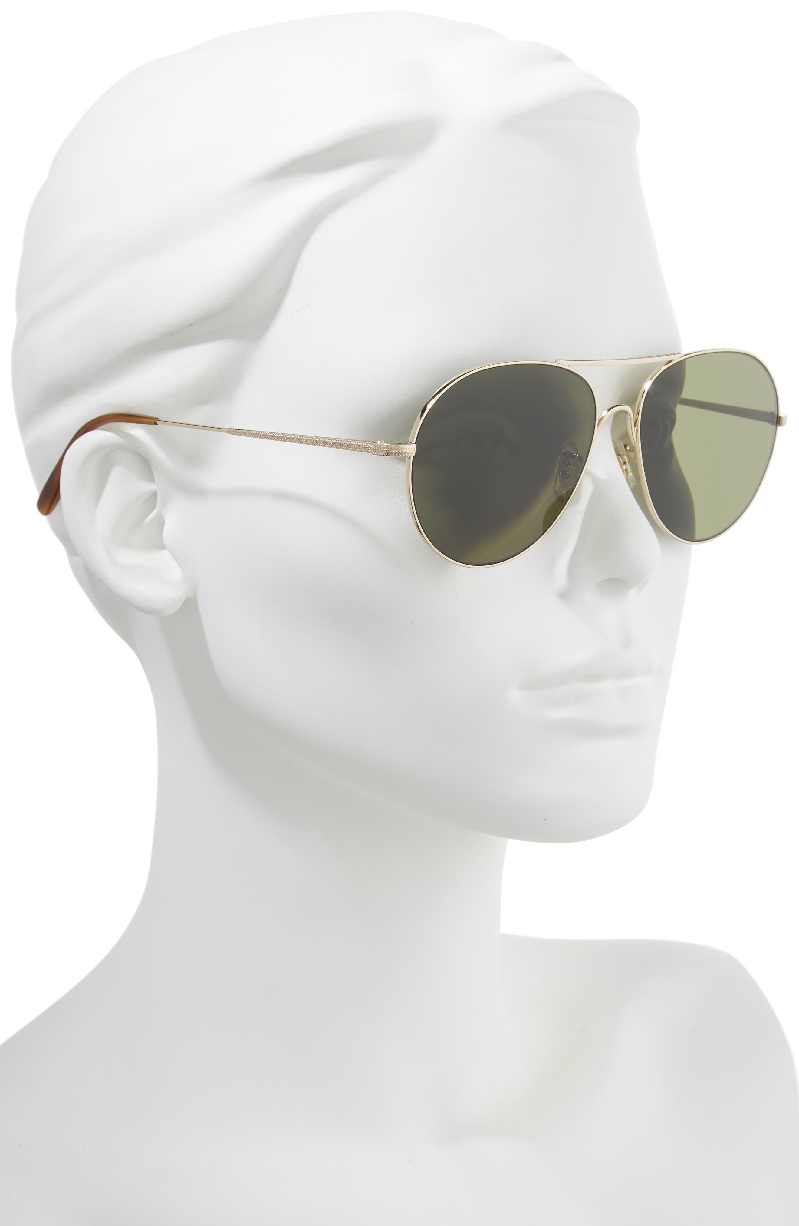 Rockmore 58mm Aviator Sunglasses,                             Alternate thumbnail 2, color,                             GOLD