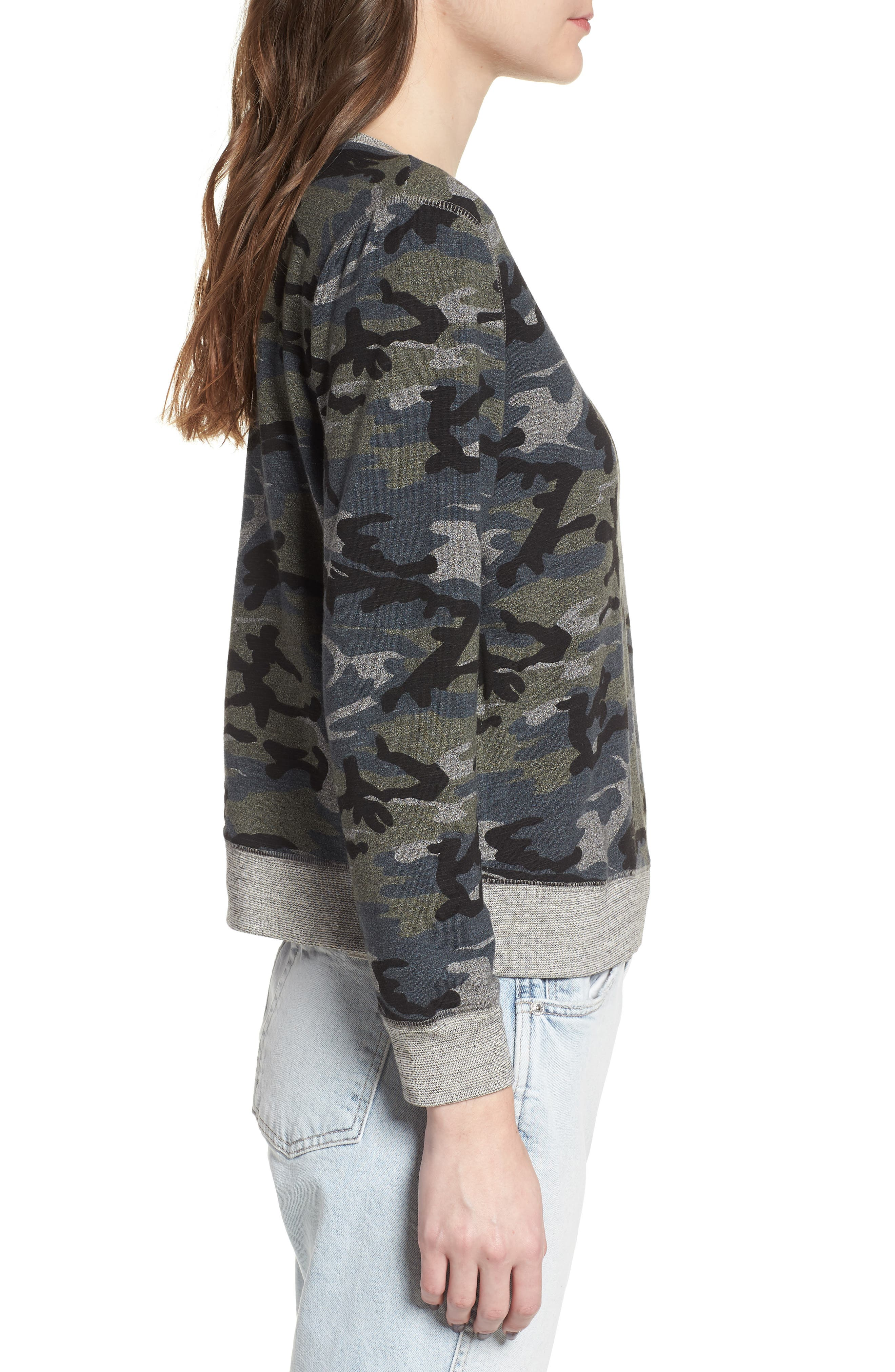 Camo Pullover,                             Alternate thumbnail 3, color,                             020