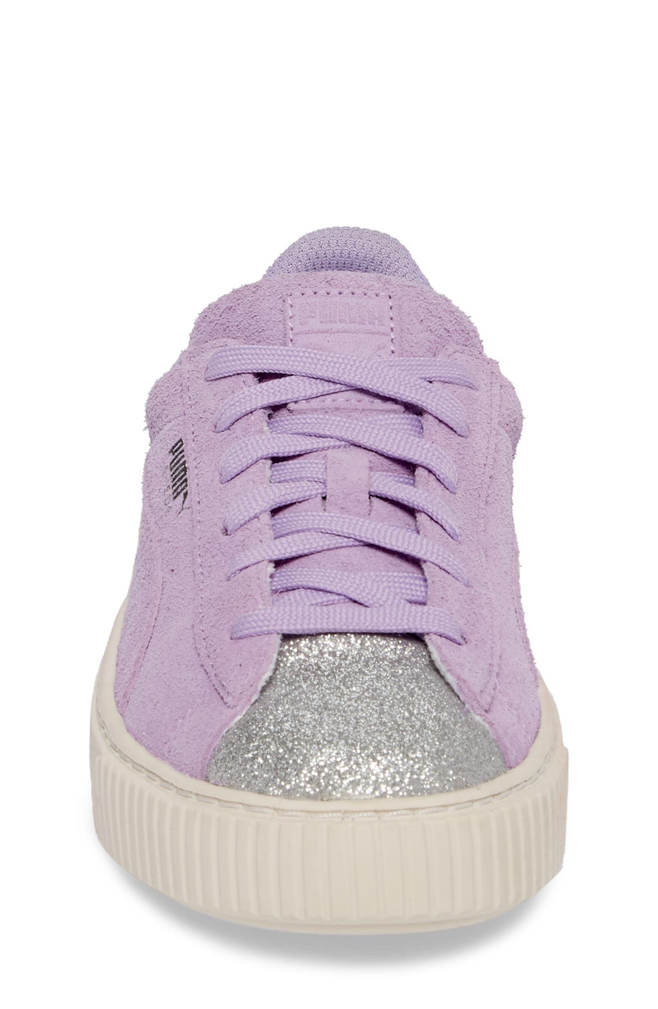 Suede Platform Glam PS Sneaker,                             Alternate thumbnail 18, color,
