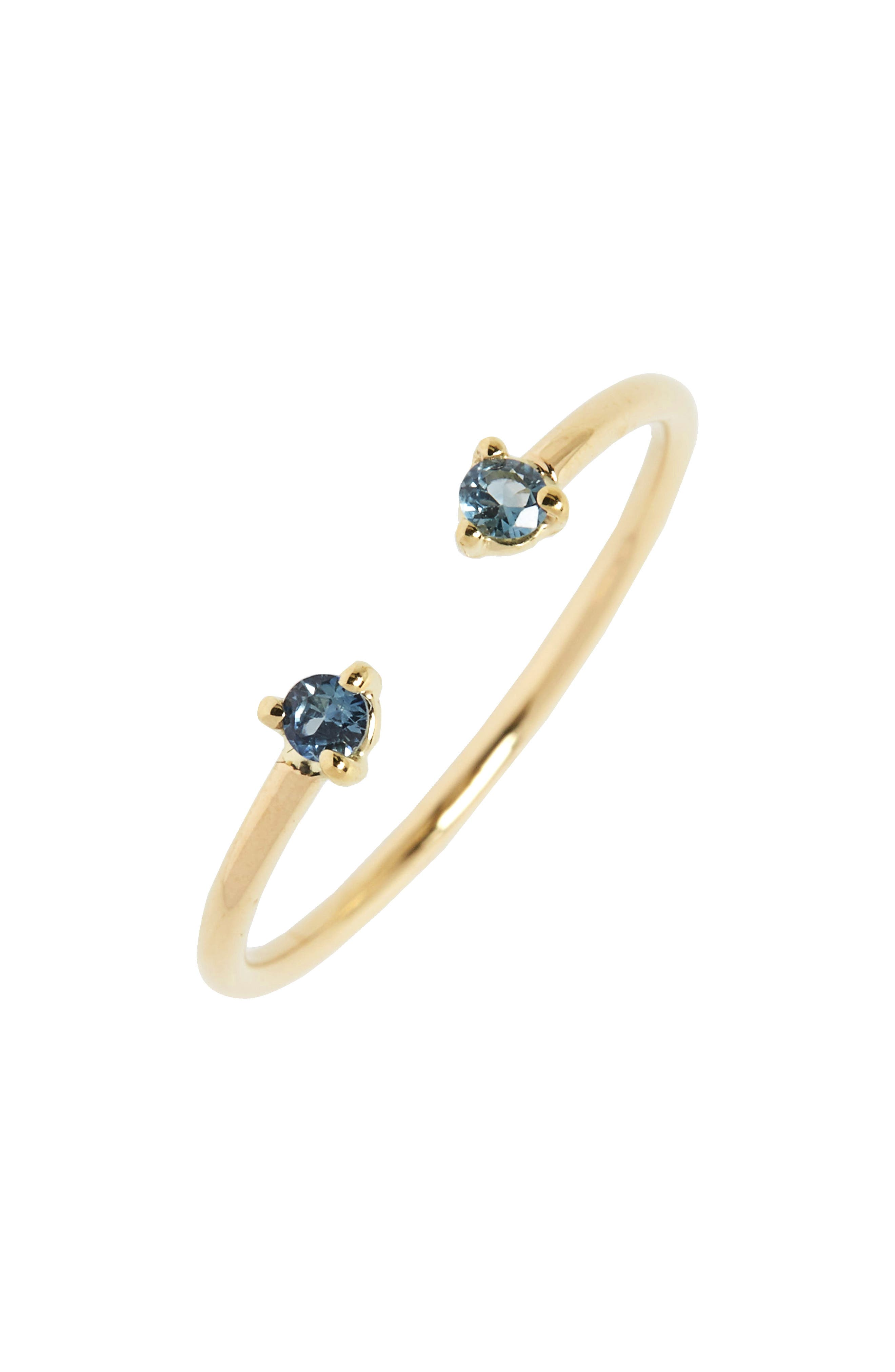 Counting Collection Two-Step Sapphire Ring,                             Main thumbnail 1, color,                             SAPPHIRE/ GOLD