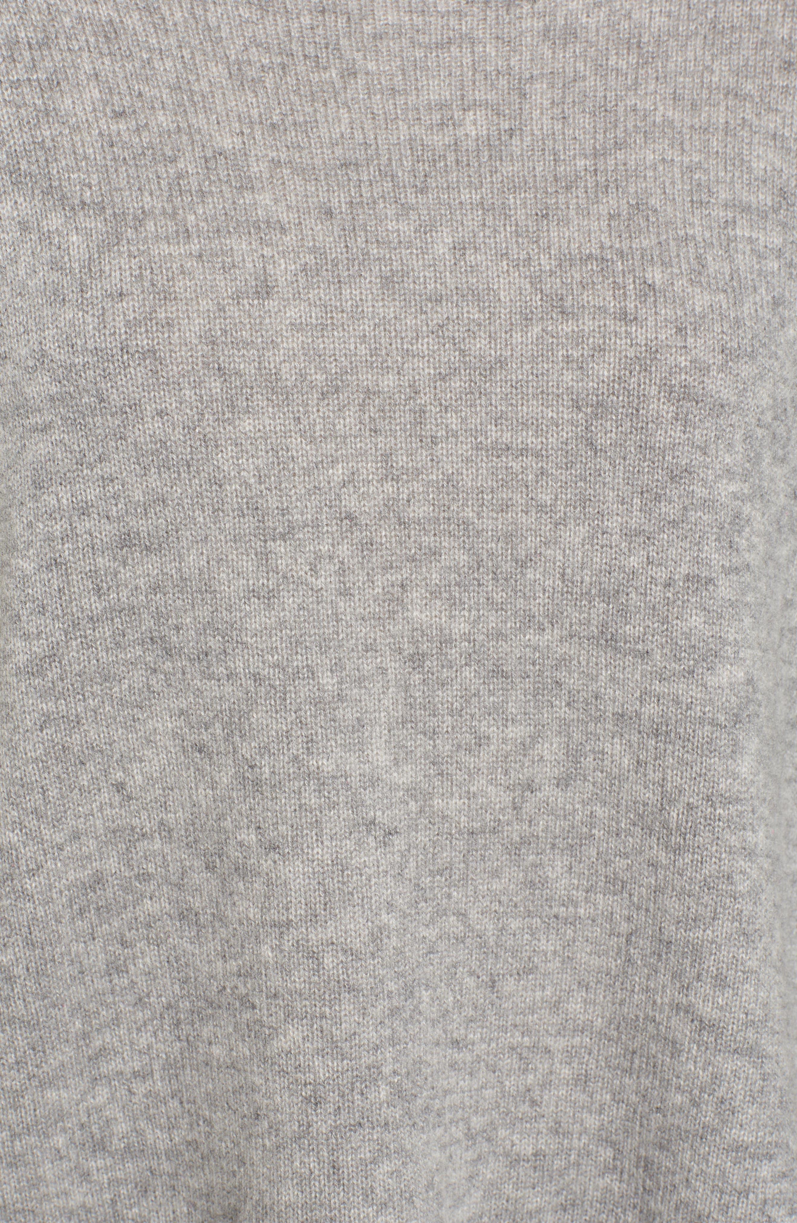 Mock Neck Cashmere Sweater,                             Alternate thumbnail 5, color,                             086