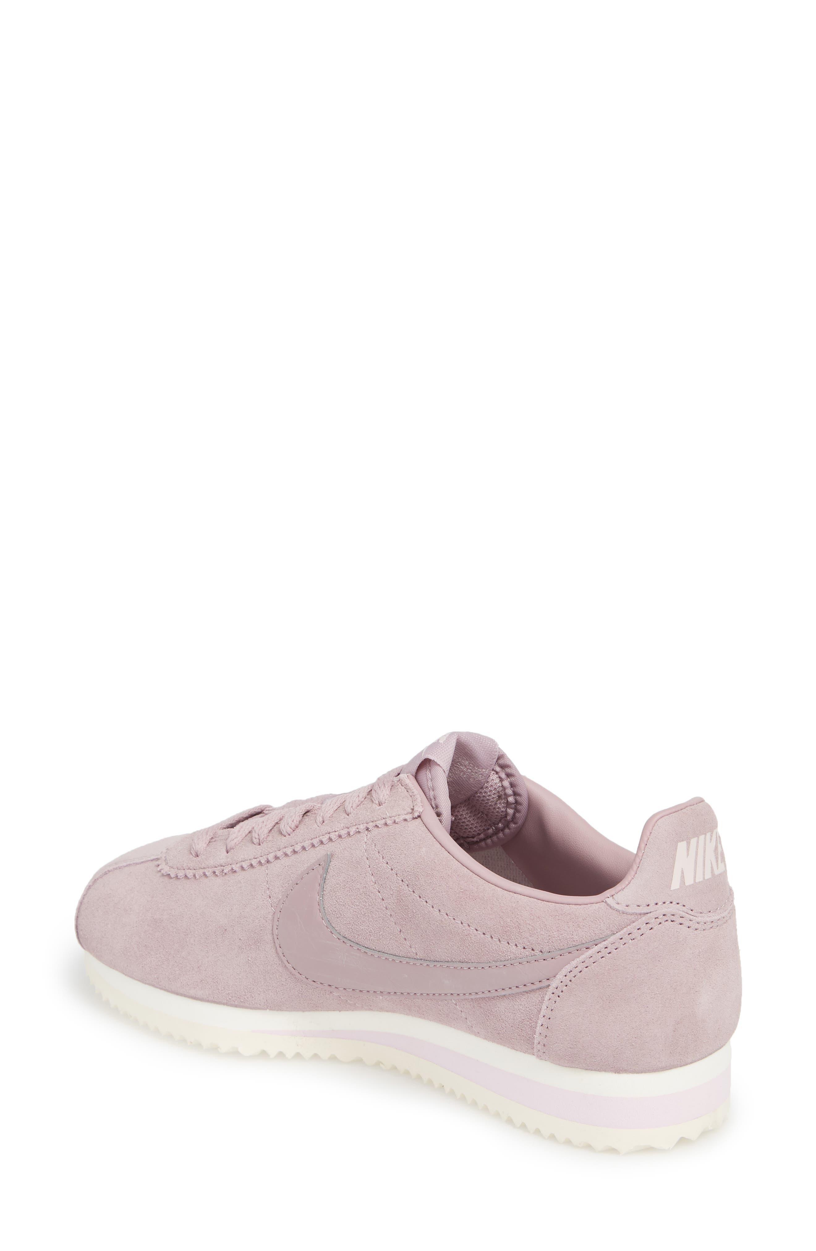 NIKE,                             Classic Cortez Suede Sneaker,                             Alternate thumbnail 2, color,                             650