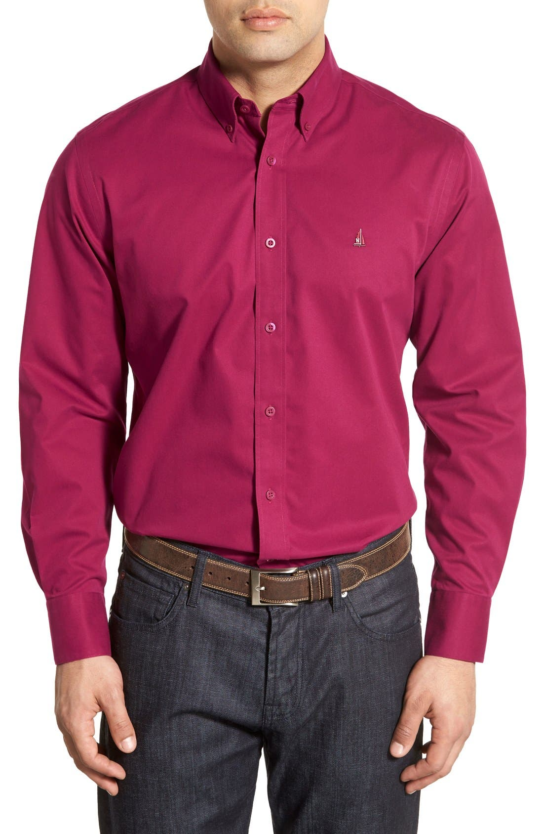 Smartcare<sup>™</sup> Traditional Fit Twill Boat Shirt,                             Main thumbnail 37, color,