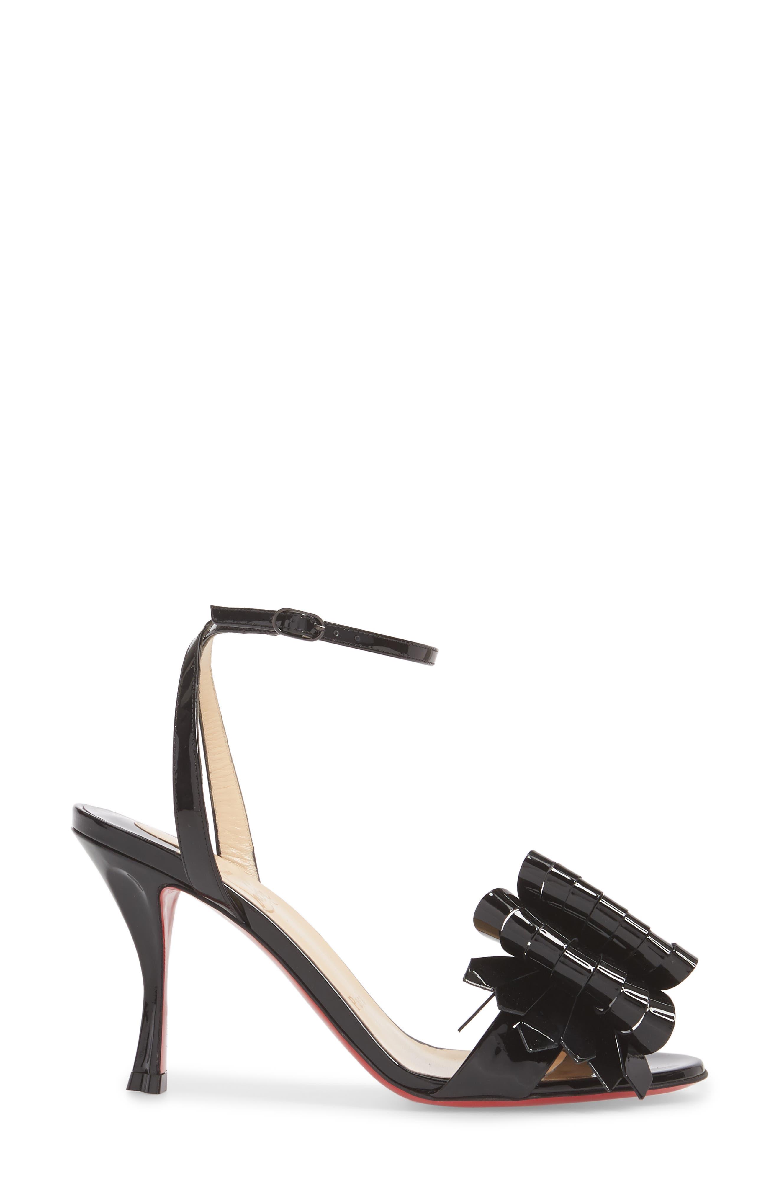 Miss Valois Bow Ankle Strap Sandal,                             Alternate thumbnail 5, color,