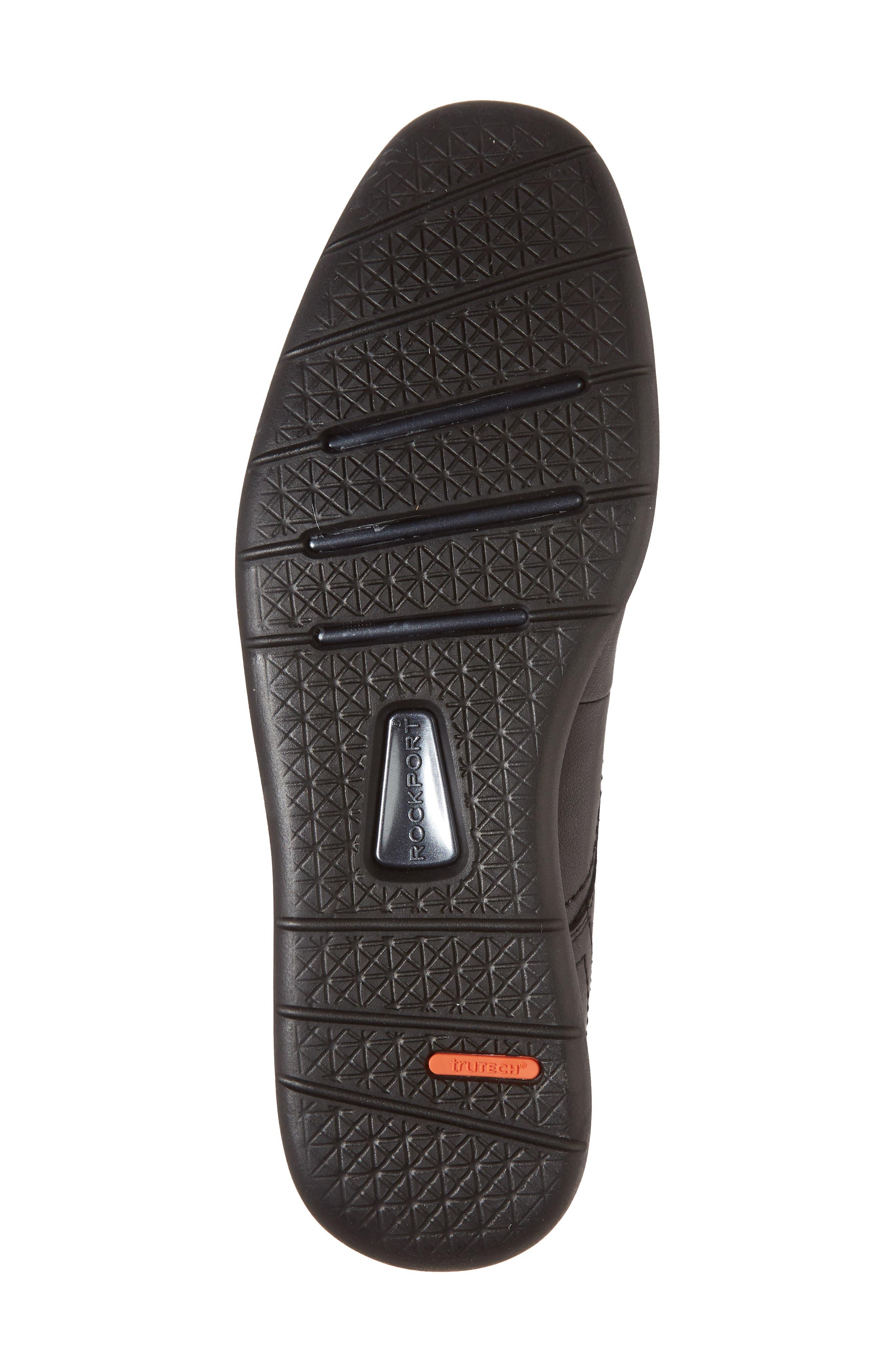 Total Motion Sport Plain Toe Derby,                             Alternate thumbnail 6, color,                             BLACK LEATHER