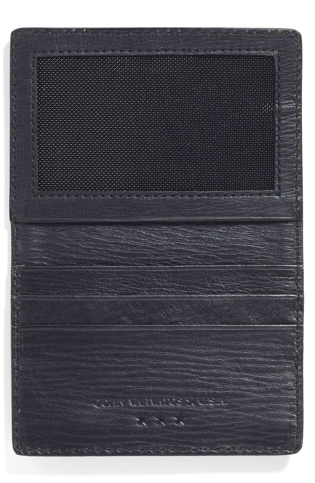Collection Leather Card Case,                             Alternate thumbnail 3, color,                             001