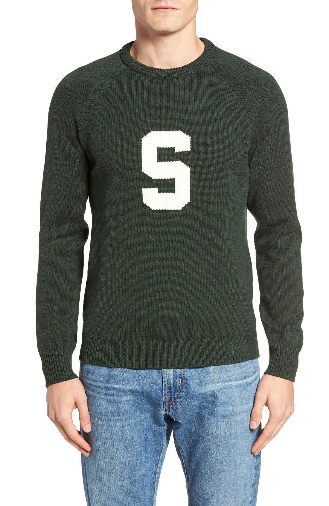 HILLFLINT,                             Michigan State Heritage Sweater,                             Main thumbnail 1, color,                             300