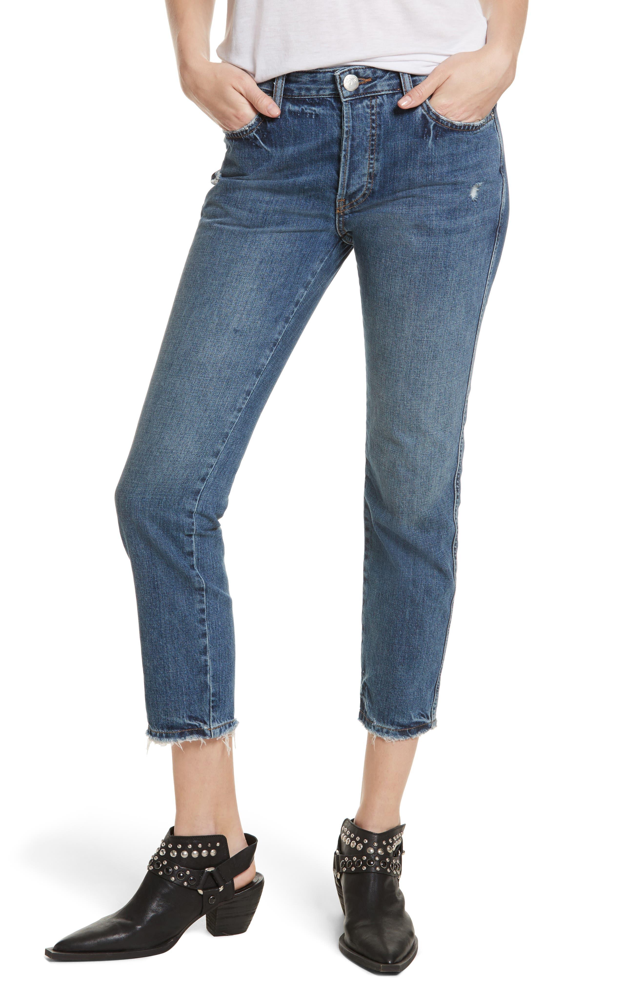 Slim Boyfriend Jeans,                         Main,                         color, 400