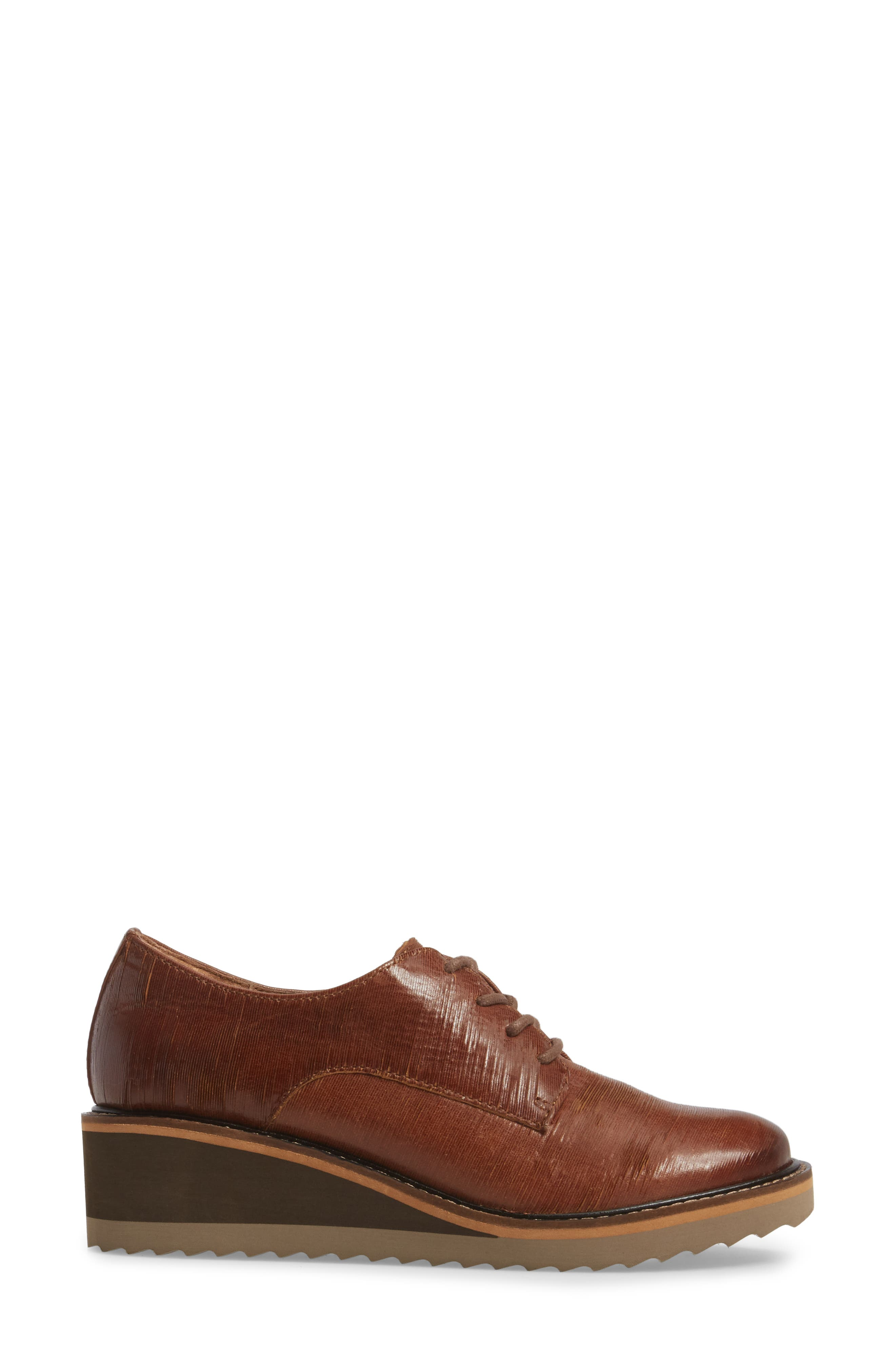 Salerno Oxford,                             Alternate thumbnail 3, color,                             WHISKEY SUEDE