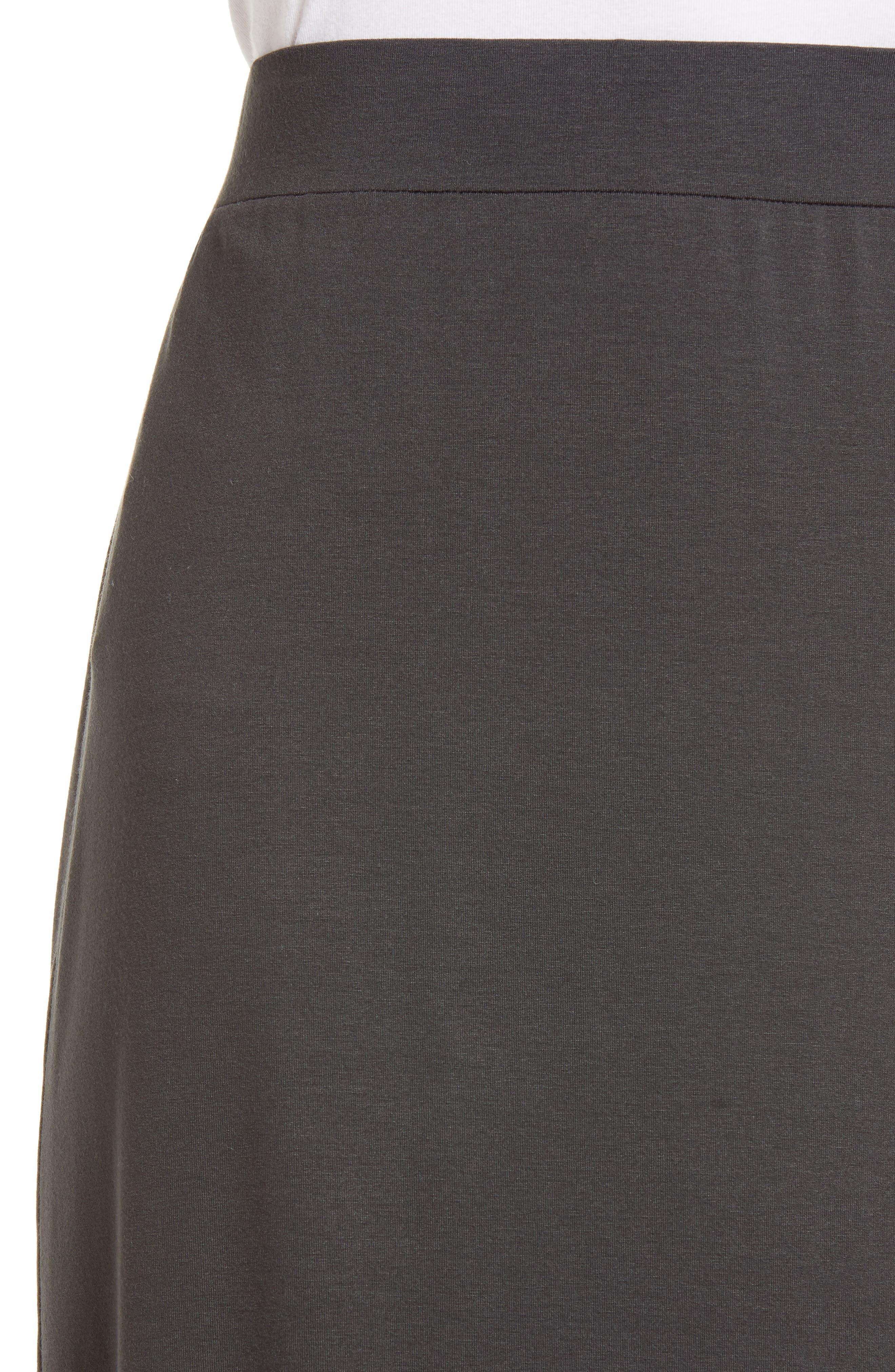 Jersey Shirttail Hem Skirt,                             Alternate thumbnail 4, color,                             025