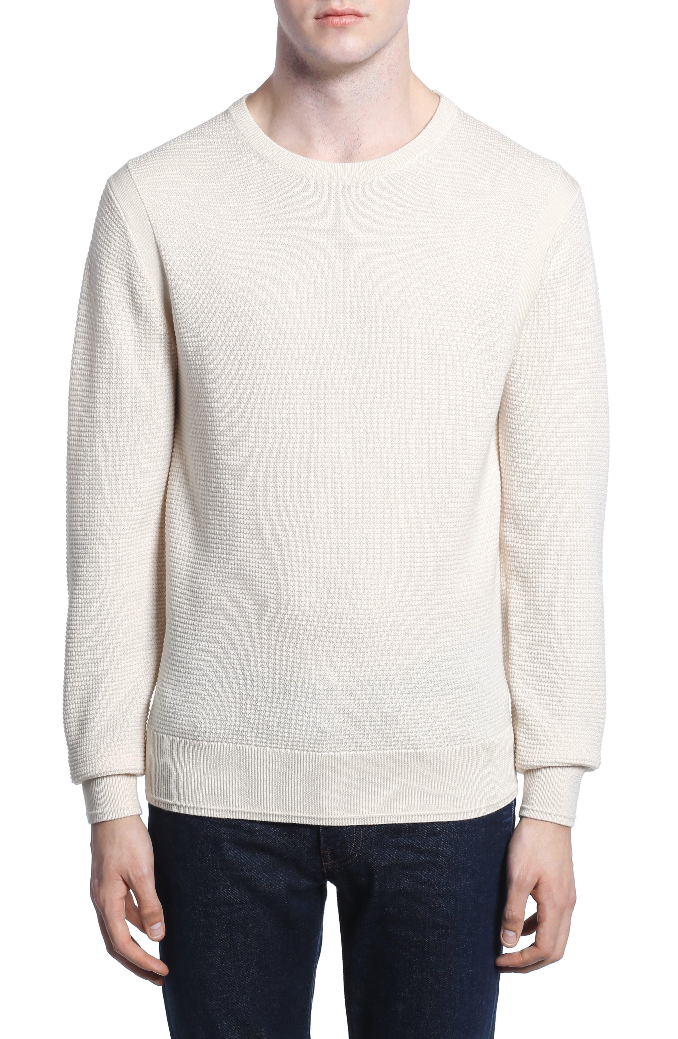 Merino Waffle Knit Wool Sweater,                         Main,                         color, 104