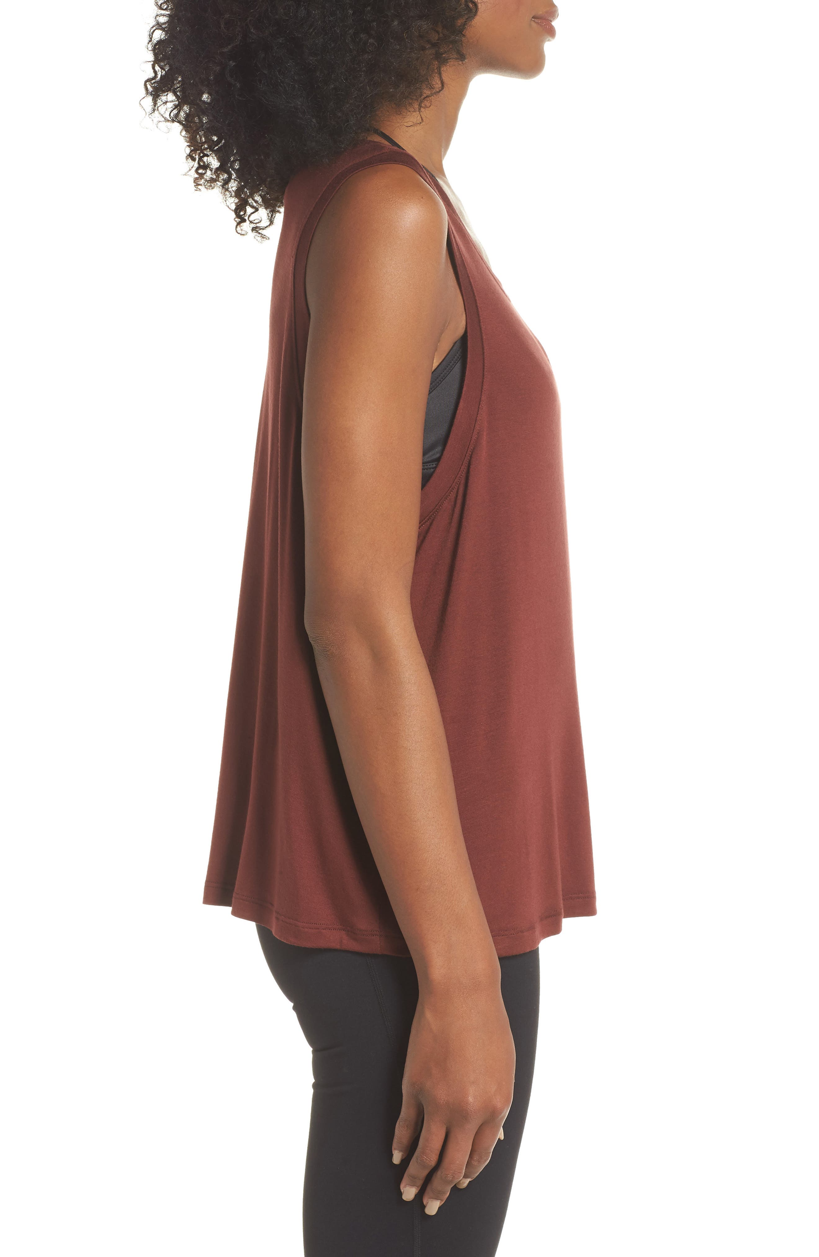 Balance Muscle Tank,                             Alternate thumbnail 3, color,                             RED ROCK