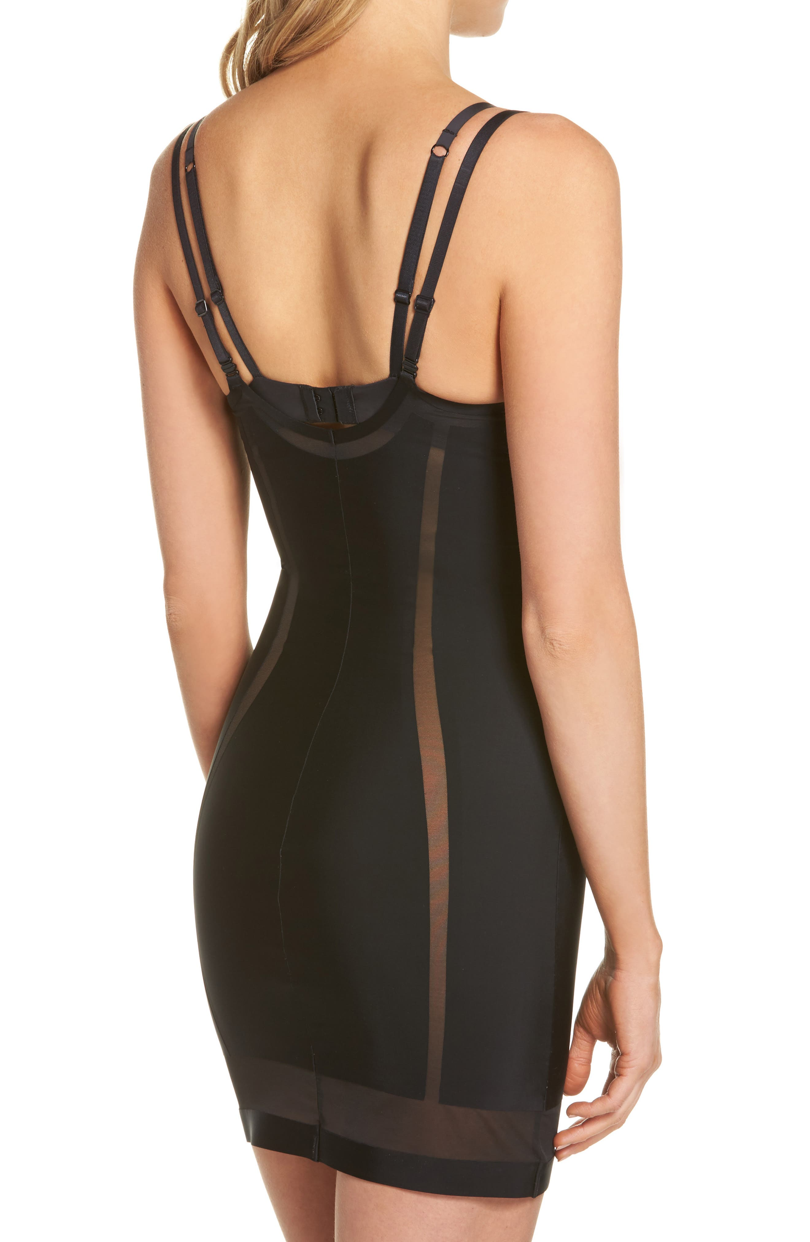 Sculpted Shapewear Slip,                             Alternate thumbnail 3, color,                             001