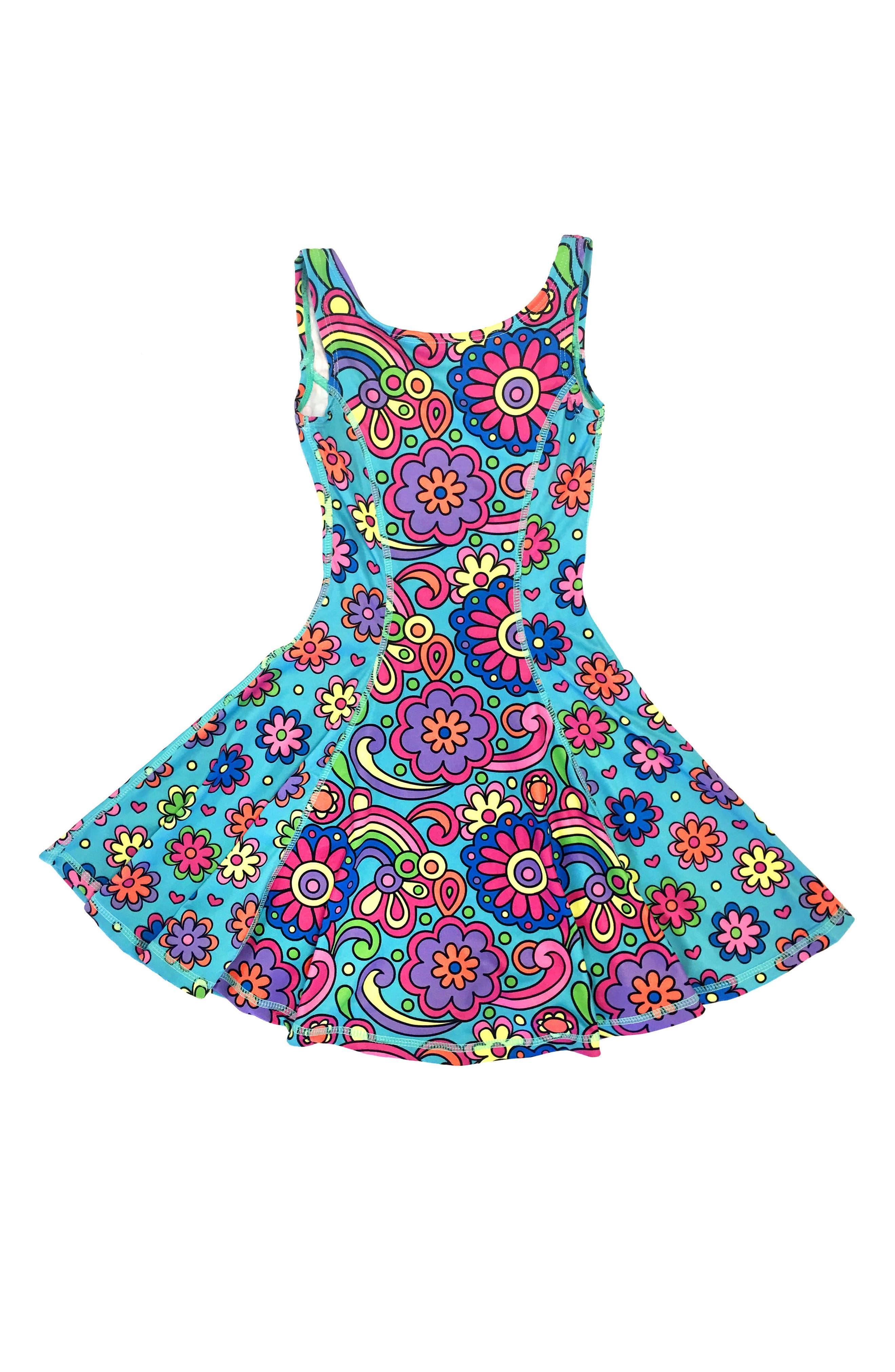 Flow Mixed Print Dress,                             Main thumbnail 11, color,