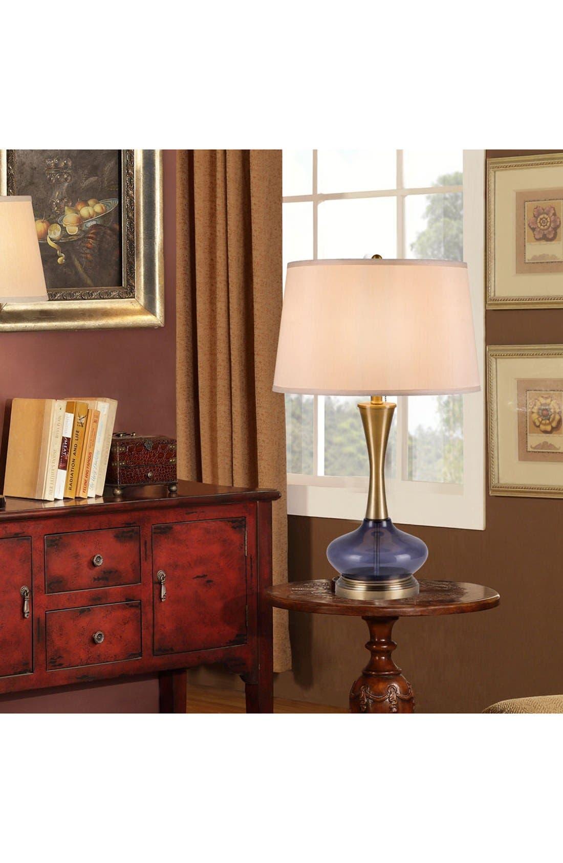 JAlexander Metal & Glass Table Lamp,                             Alternate thumbnail 2, color,