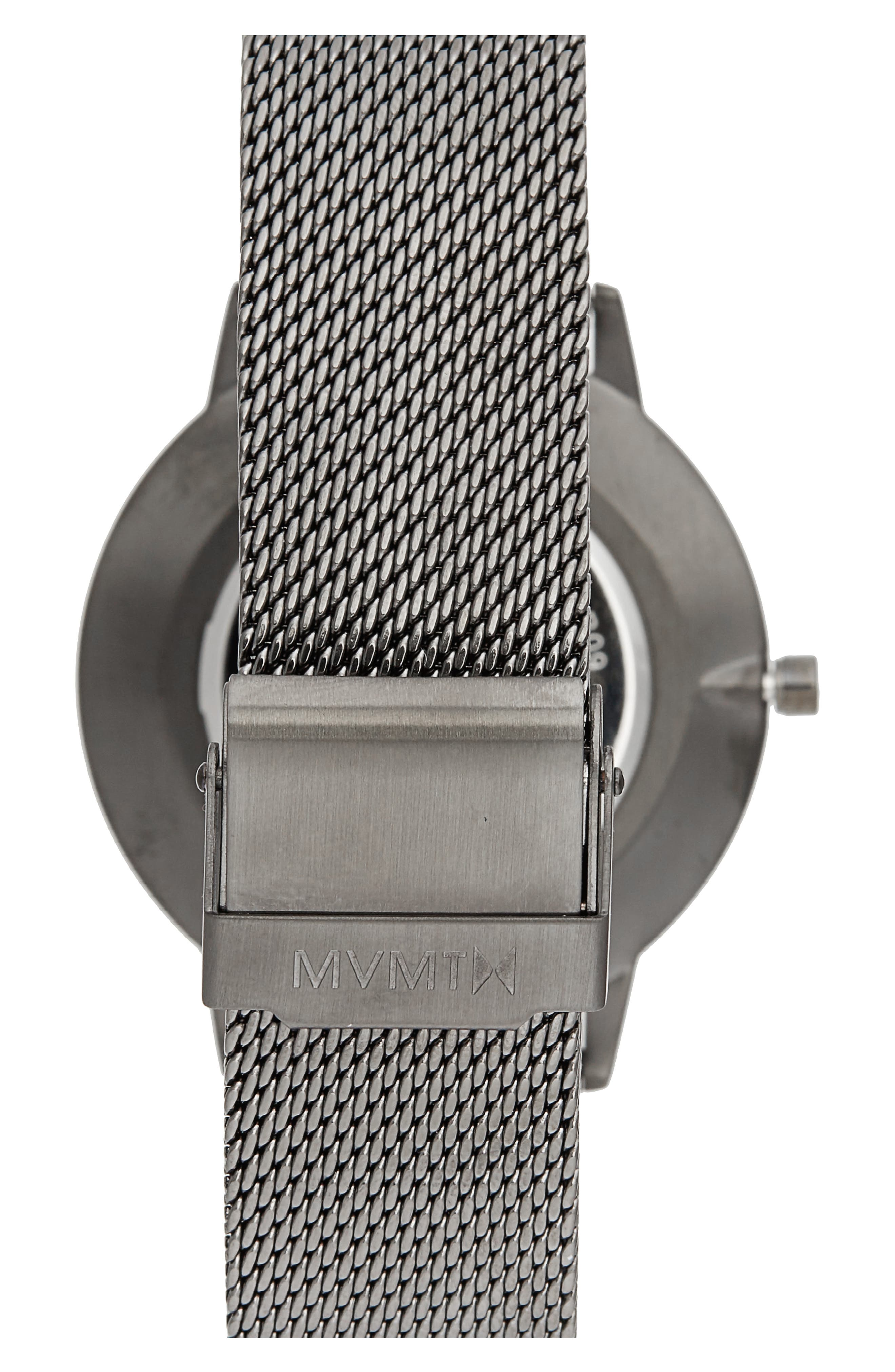Boulevard Mesh Strap Watch, 38mm,                             Alternate thumbnail 2, color,                             GREY/ ROSE GOLD