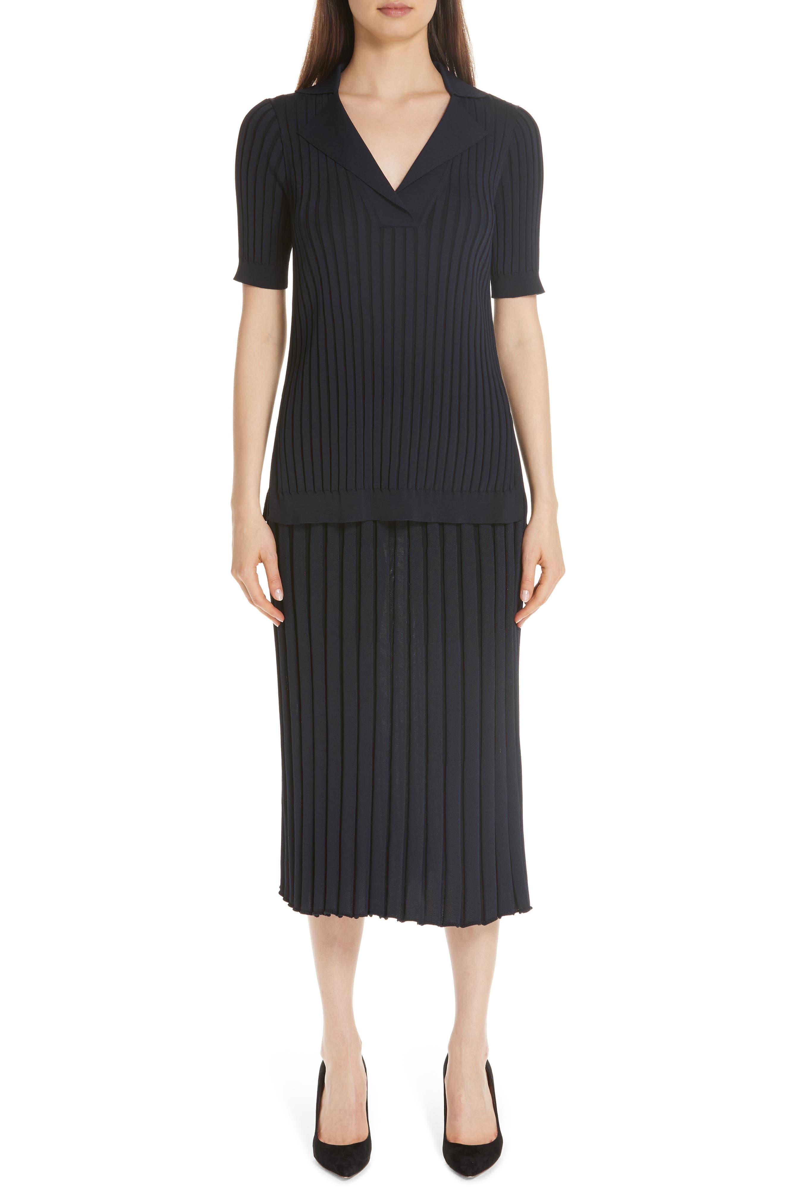 Metropolitan Shine Plaited Rib Skirt,                             Alternate thumbnail 7, color,                             400