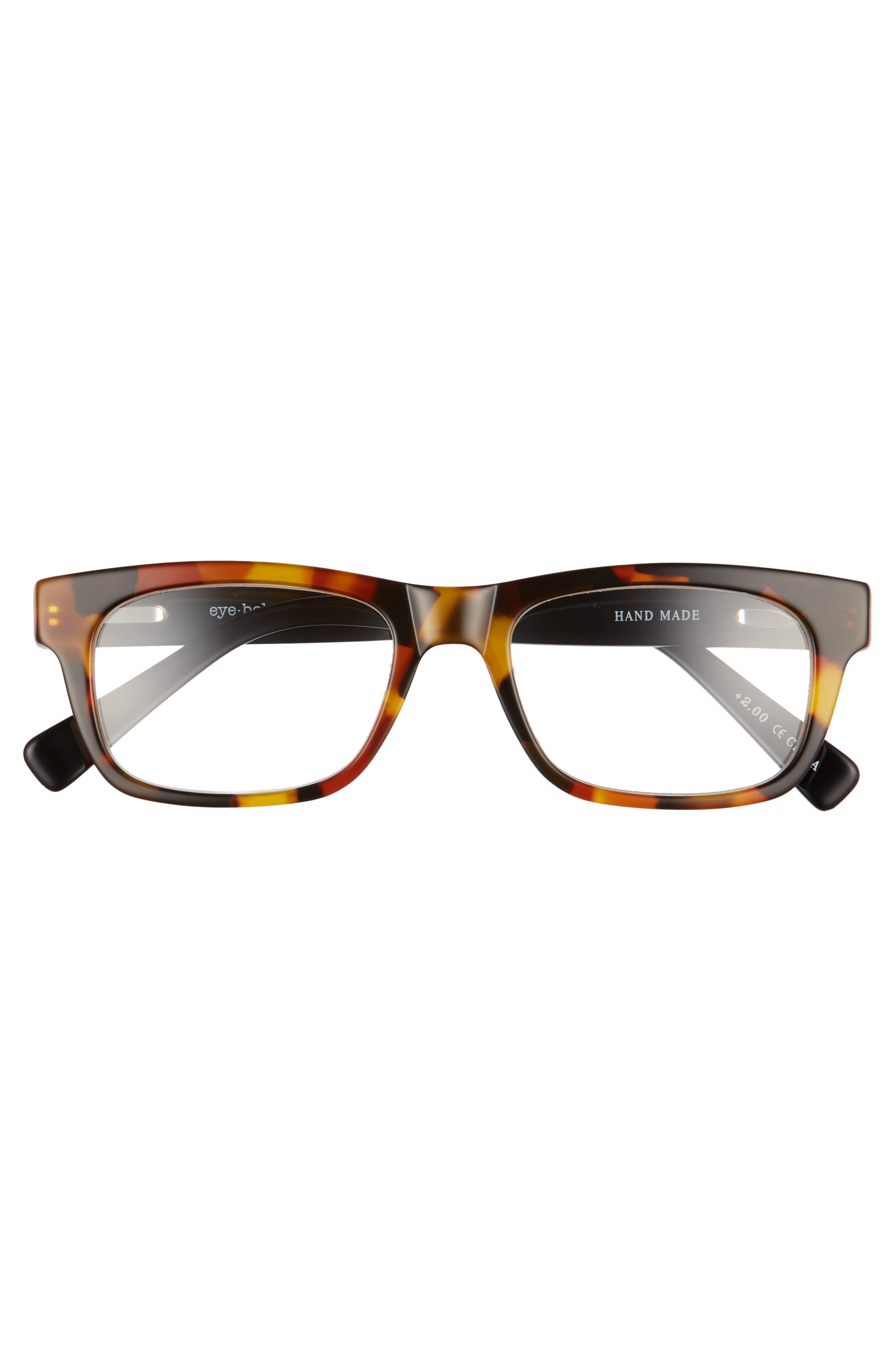 Style Guy 52mm Reading Glasses,                             Alternate thumbnail 2, color,                             TORTOISE WITH BLACK