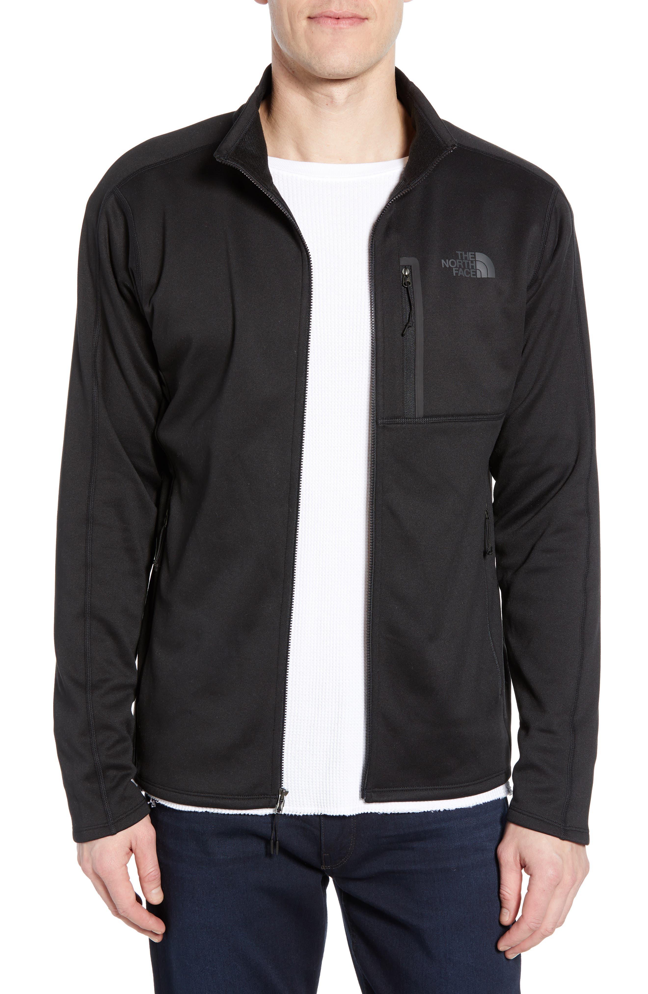 THE NORTH FACE,                             Canyonlands Zip Jacket,                             Main thumbnail 1, color,                             TNF BLACK