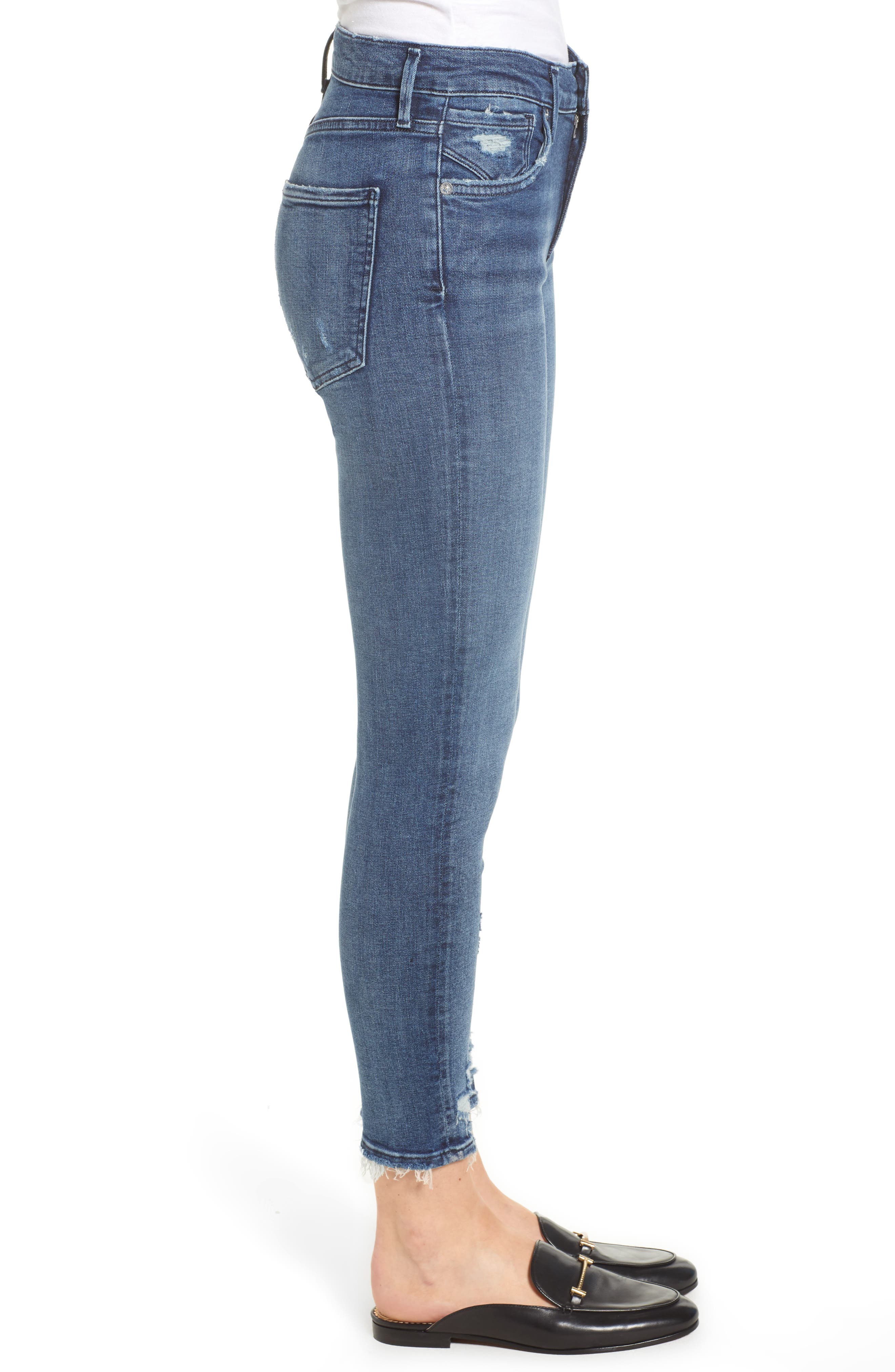 Sophie Distressed High Waist Crop Skinny Jeans,                             Alternate thumbnail 3, color,                             425