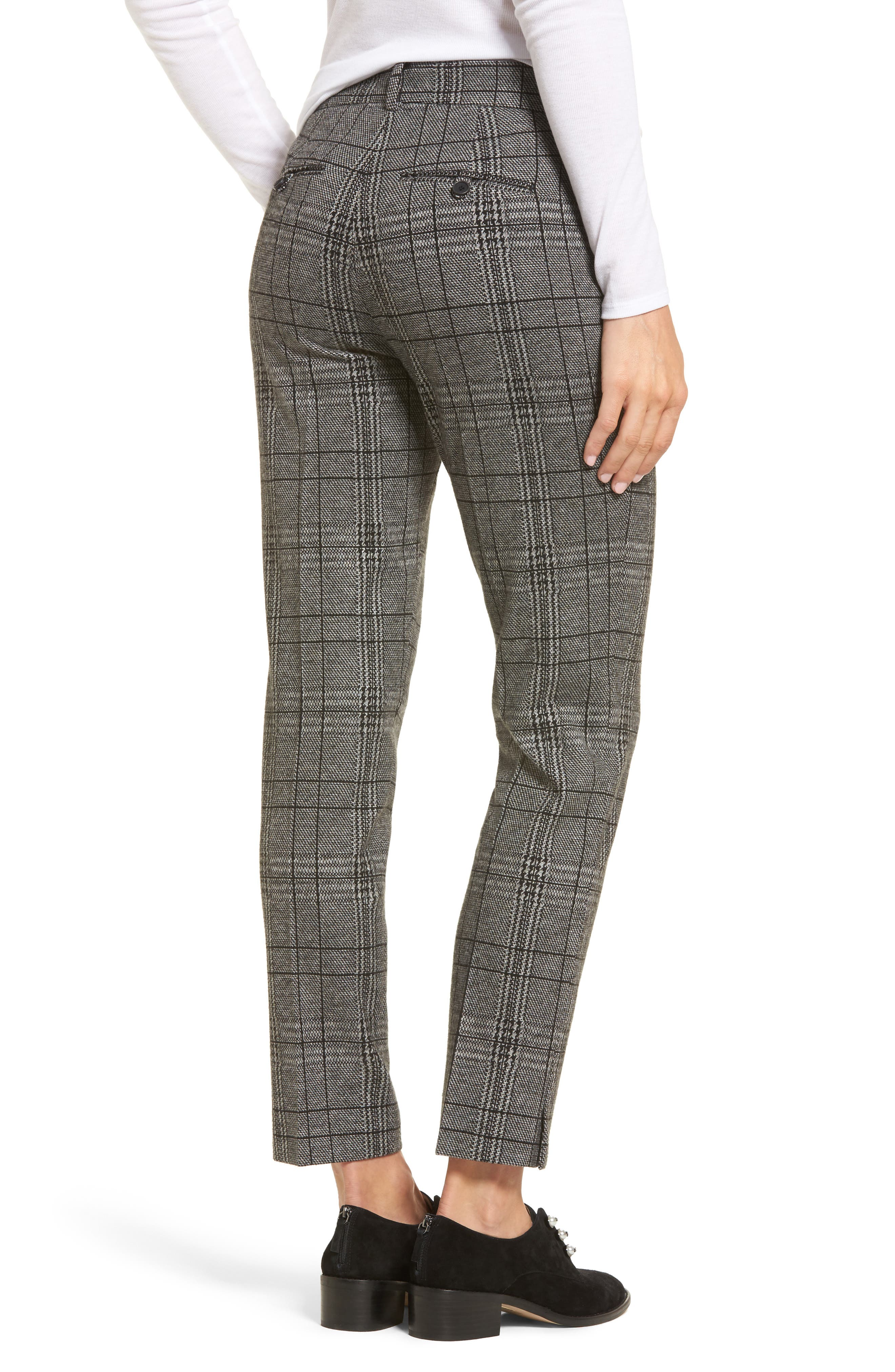 Check Plaid Trousers,                             Alternate thumbnail 2, color,                             002