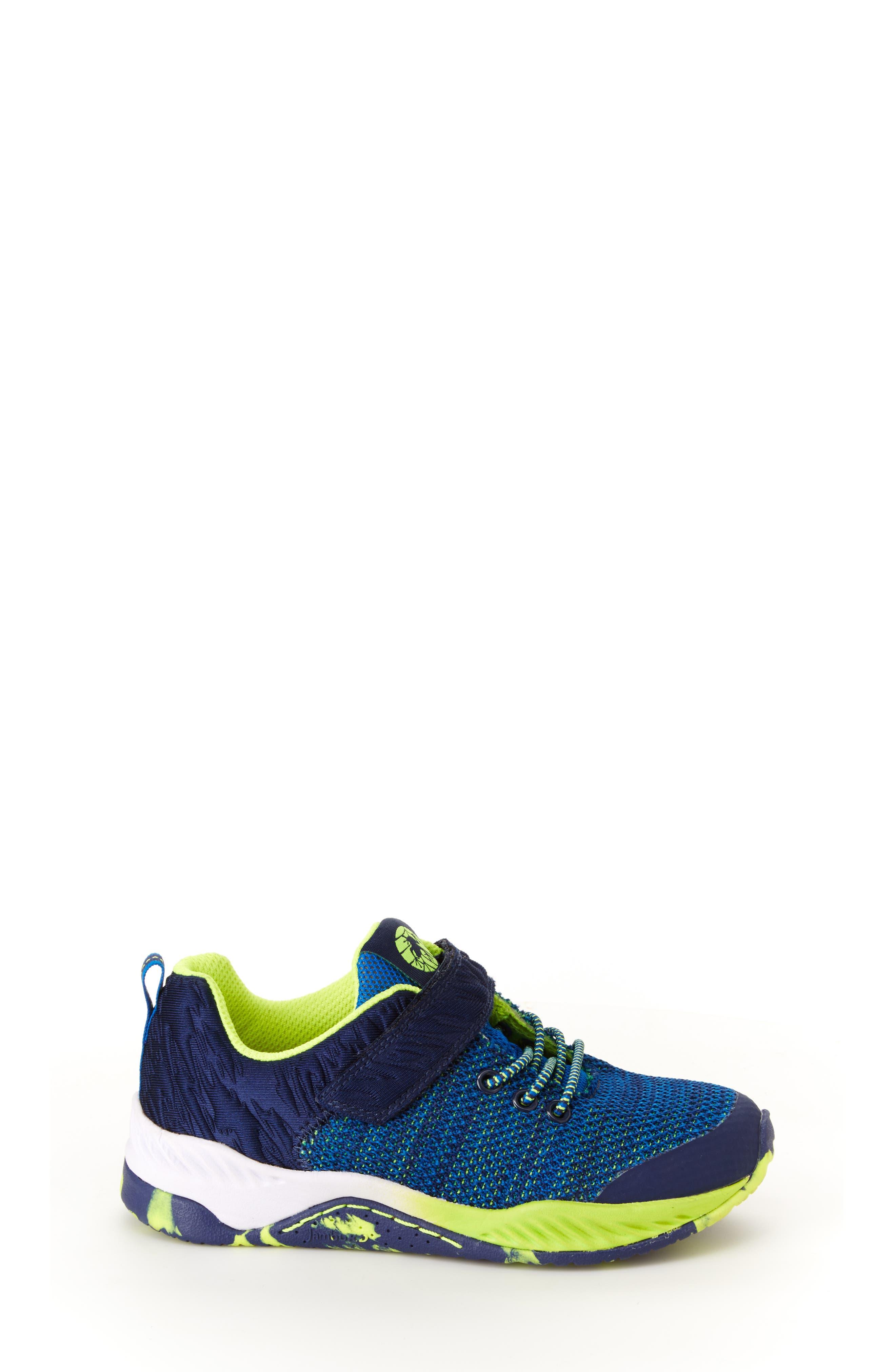 Talon Knit Sneaker,                             Alternate thumbnail 3, color,                             NAVY TEXTILE