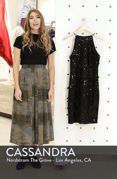 3D Floral & Sequin Cocktail Dress, sales video thumbnail