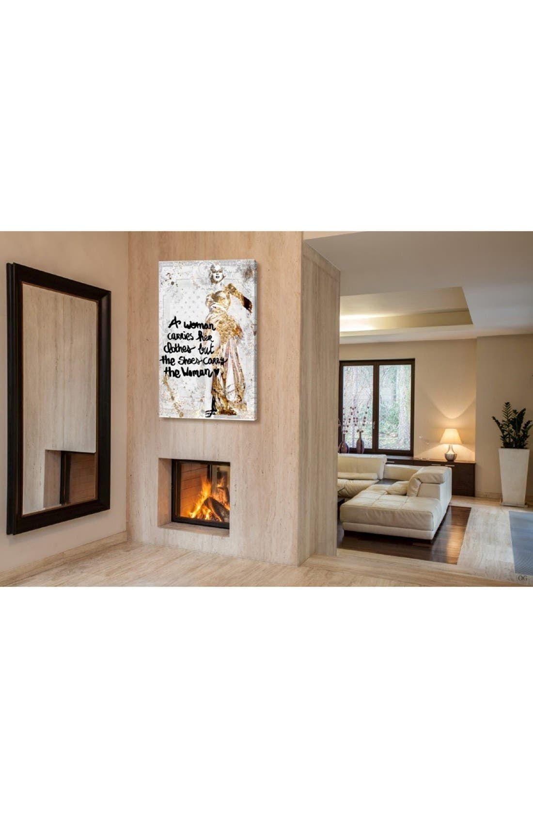 'The Shoes Carry the Woman' Canvas Wall Art,                             Alternate thumbnail 2, color,                             040