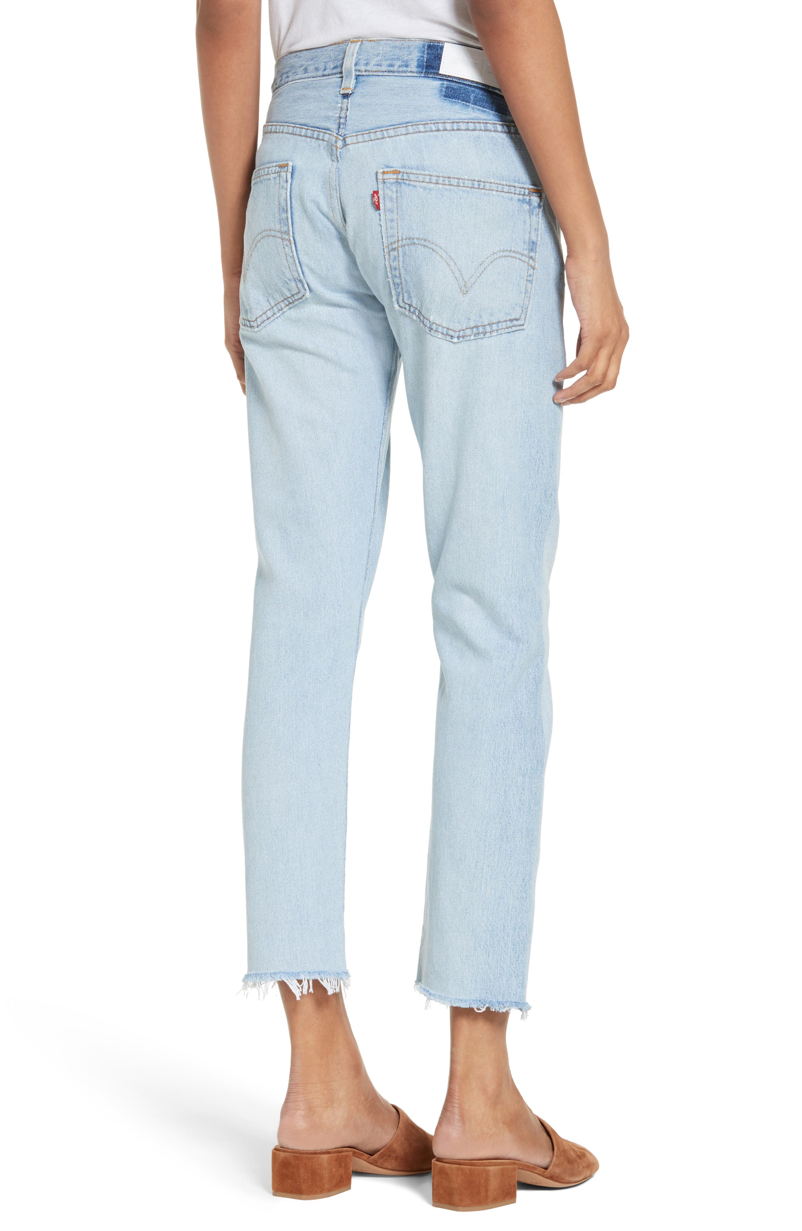 Reconstructed Crop Jeans,                             Alternate thumbnail 2, color,                             400