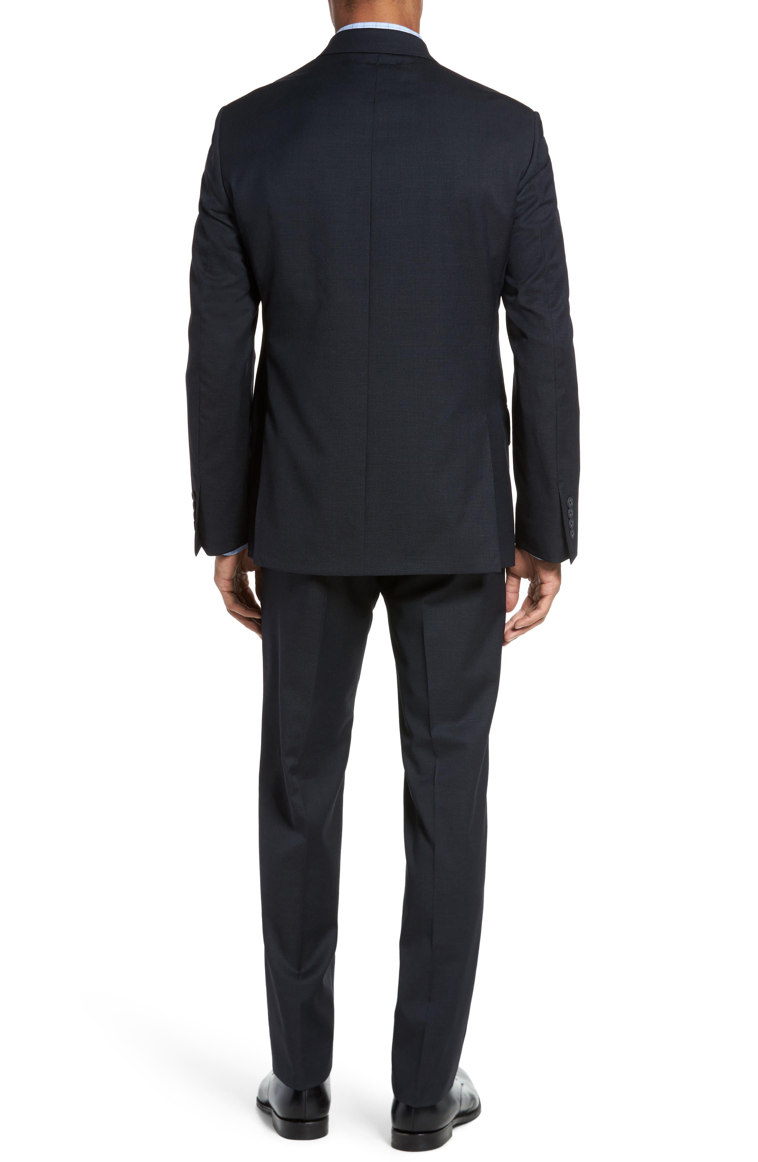 Classic Fit Check Wool Suit,                             Alternate thumbnail 7, color,