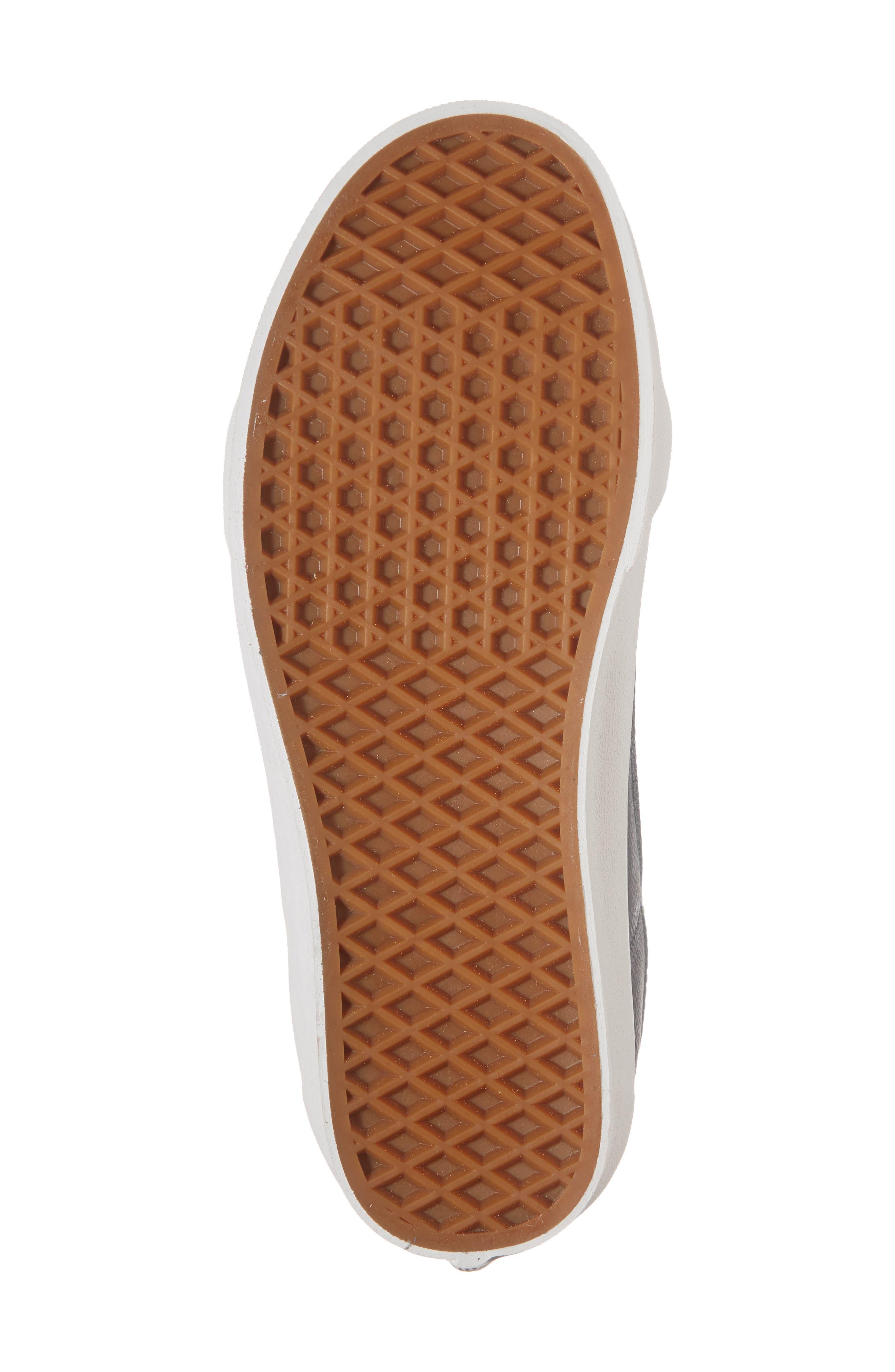 Sk8-Hi Reissue Leather Sneaker,                             Alternate thumbnail 6, color,                             020