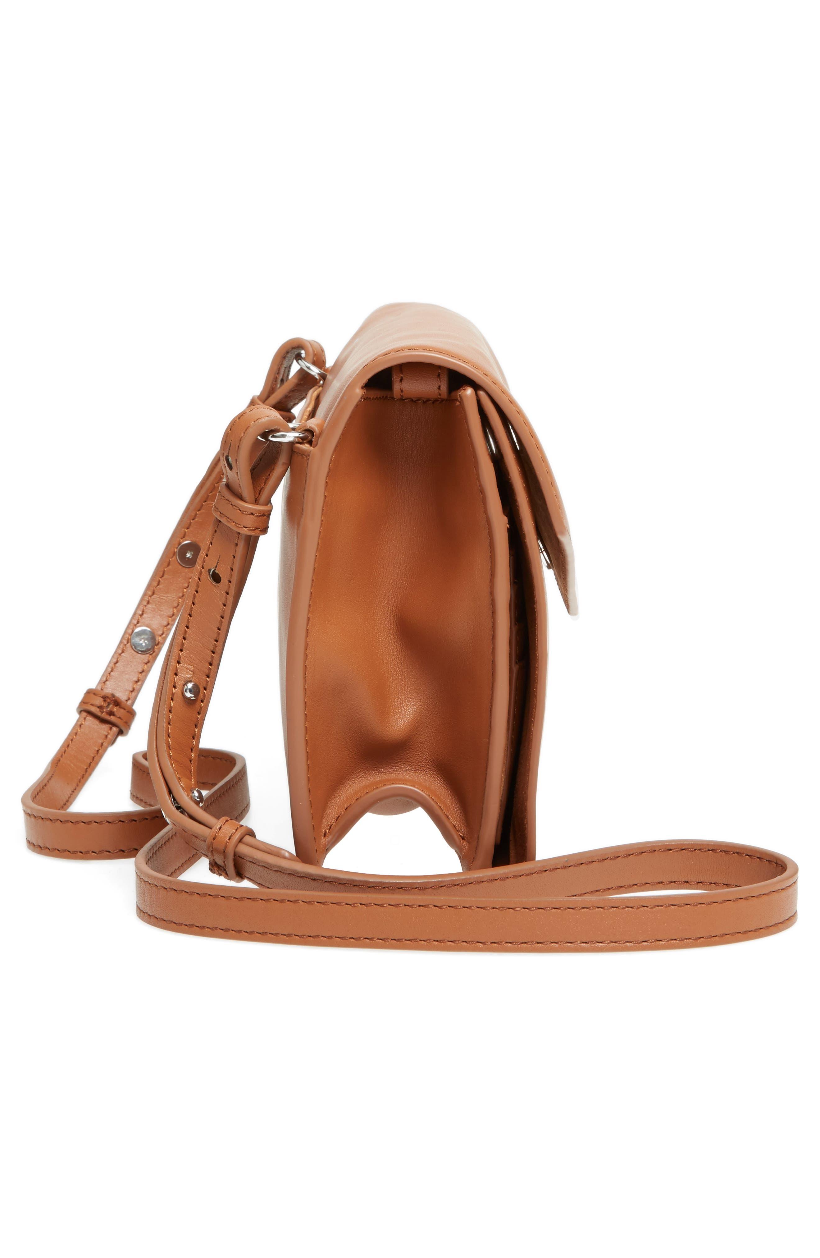 Easton Leather Envelope Crossbody Bag,                             Alternate thumbnail 5, color,                             200