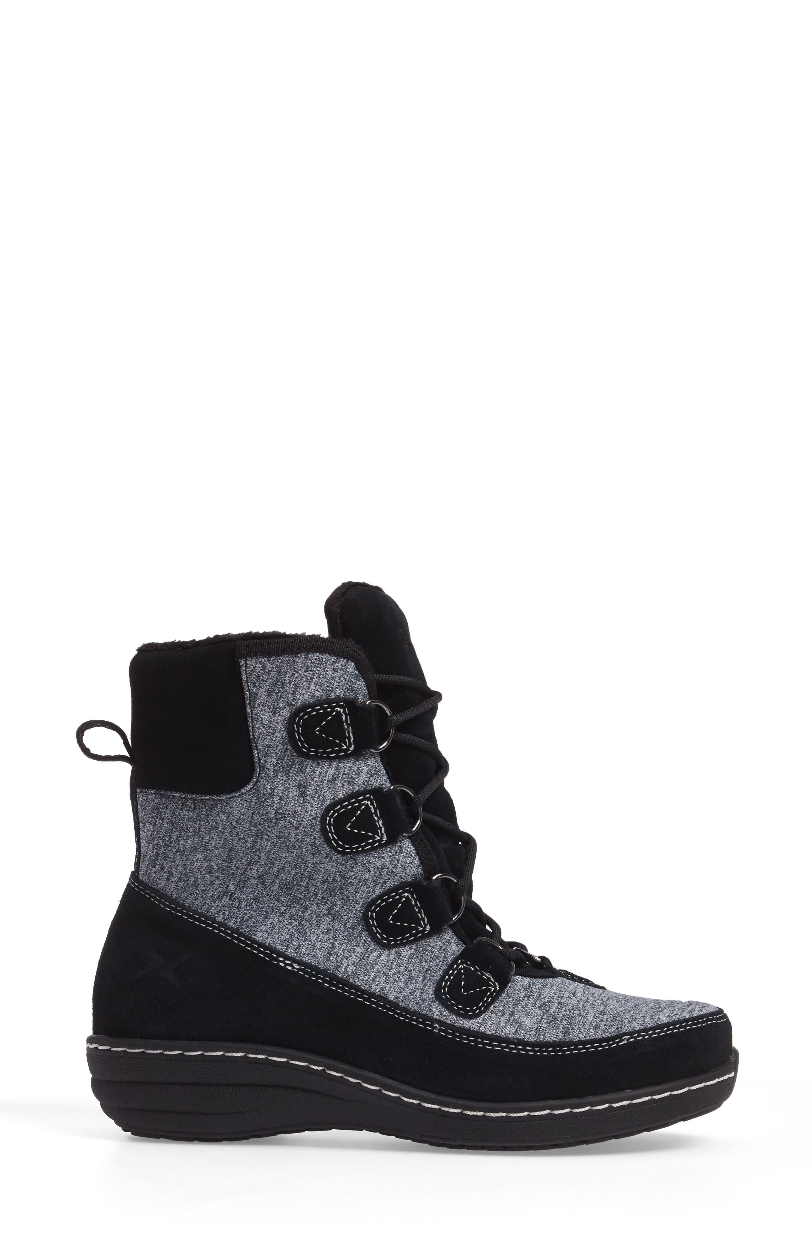 Berries Water Resistant Boot,                             Alternate thumbnail 3, color,                             MULTIBERRY SUEDE