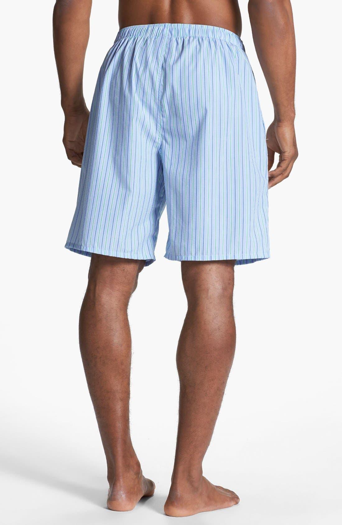 Cotton Pajama Shorts,                             Alternate thumbnail 2, color,                             BARI STRIPE