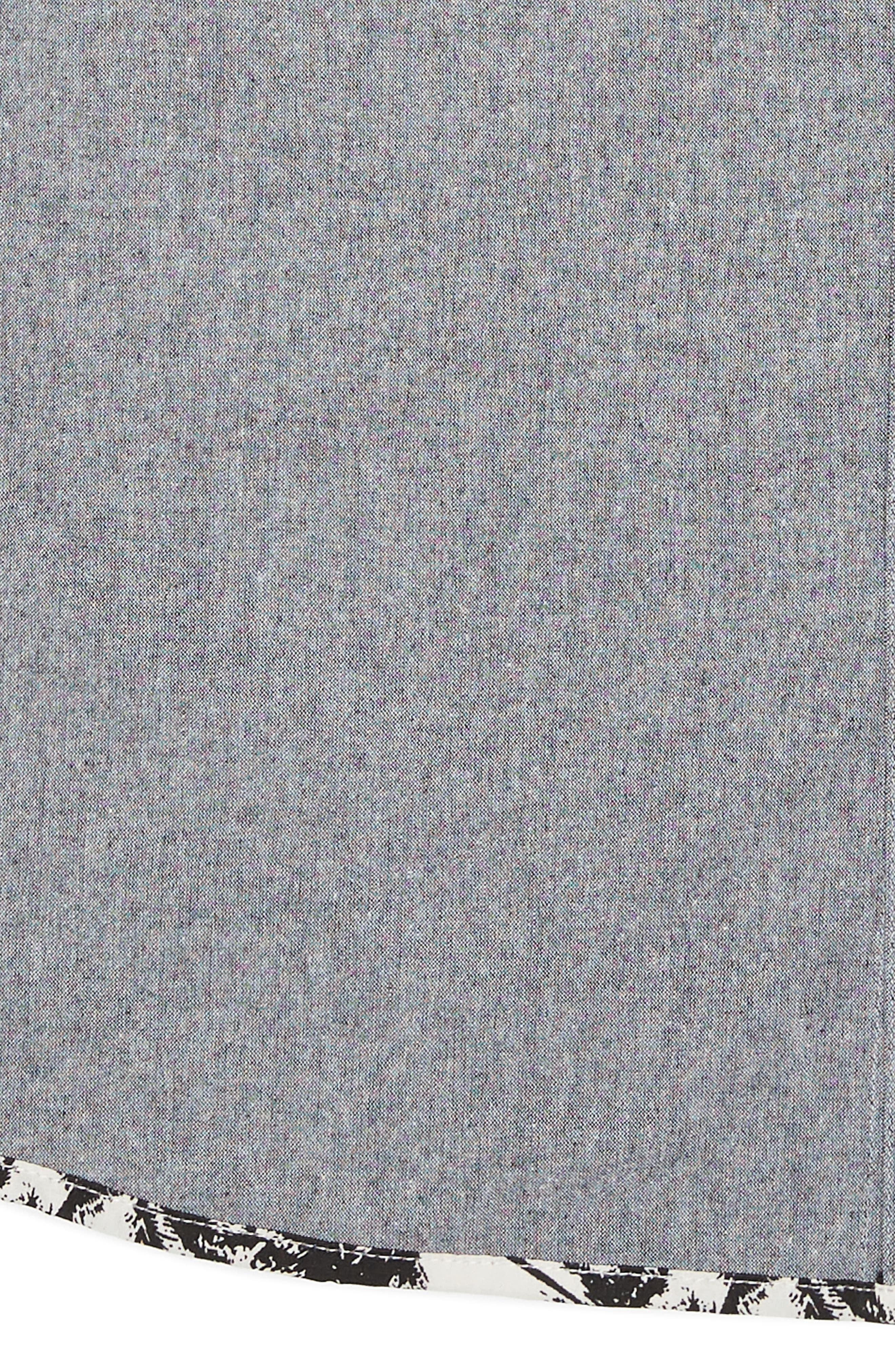 Chambray Woven Shirt,                             Alternate thumbnail 2, color,                             001