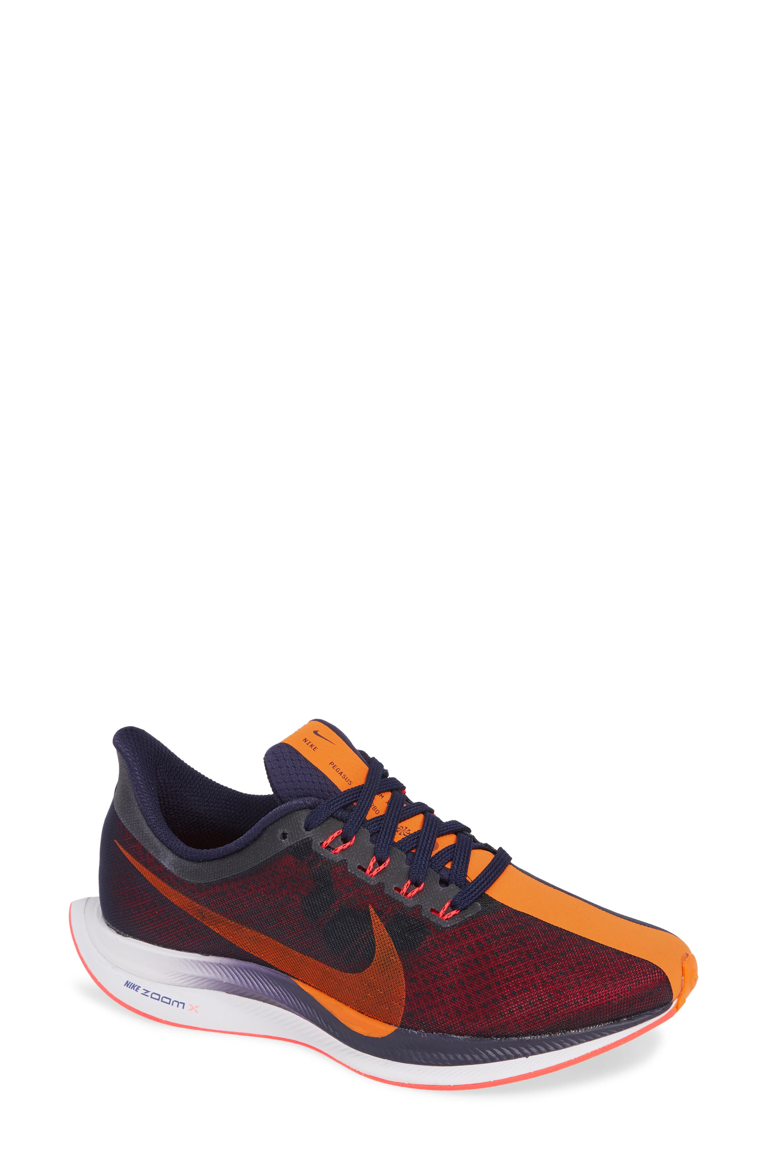Zoom Pegasus 35 Turbo Running Shoe,                         Main,                         color, BLACKENED BLUE/ CRIMSON/ BLACK