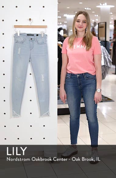 Distressed Asymmetrical Hem Skinny Jeans, sales video thumbnail