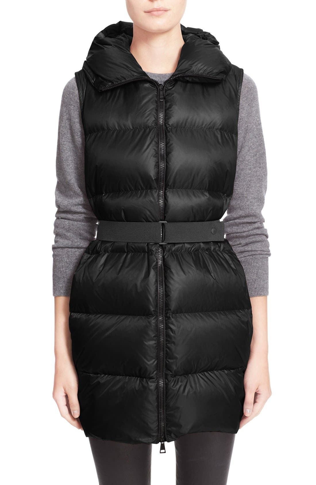 'Glykeria' Water Resistant Hooded Down Puffer Vest,                         Main,                         color, 001
