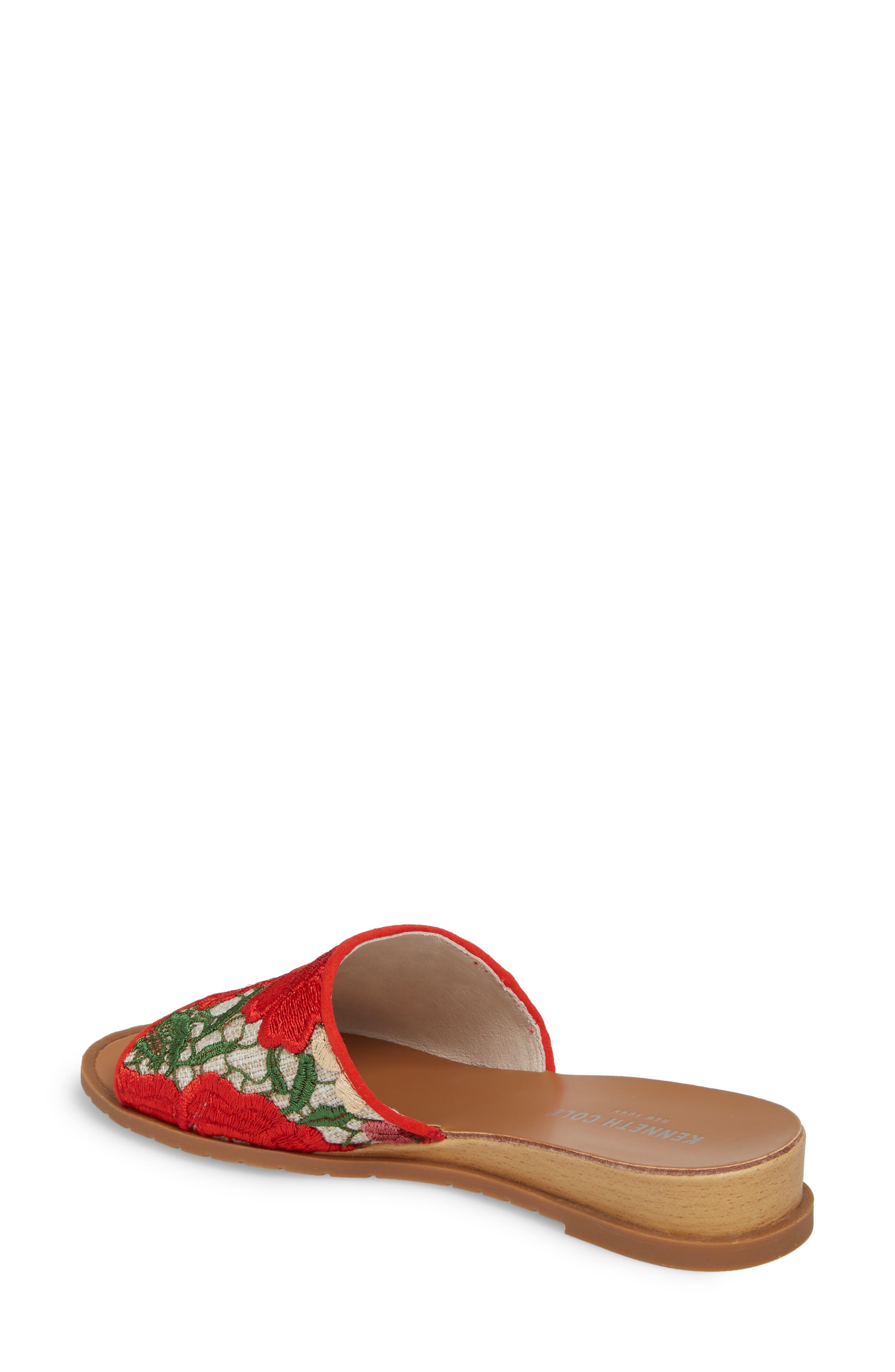 Joanne Flower Embroidered Slide Sandal,                             Alternate thumbnail 13, color,