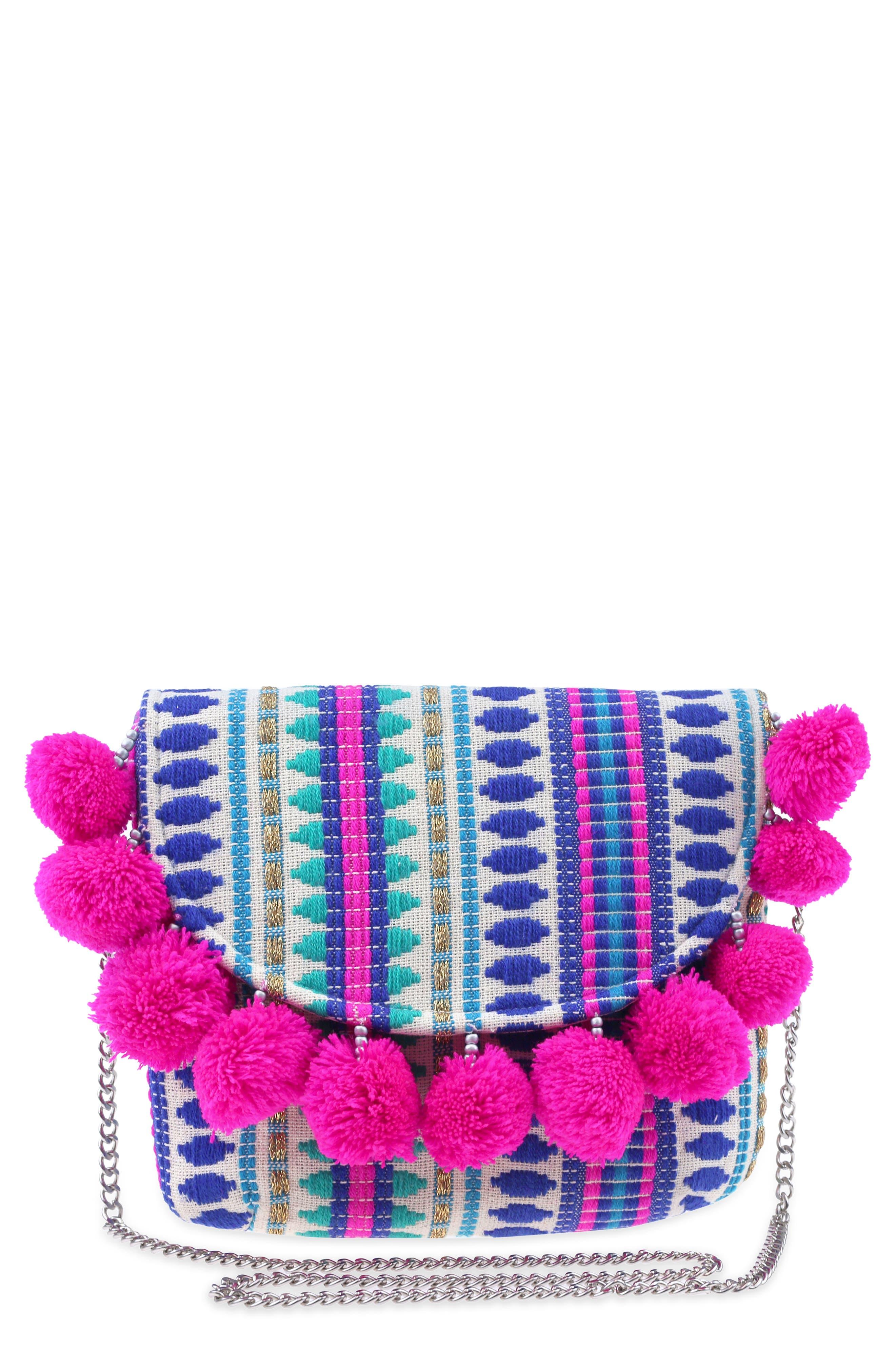 Embroidered Crossbody Bag,                             Main thumbnail 1, color,