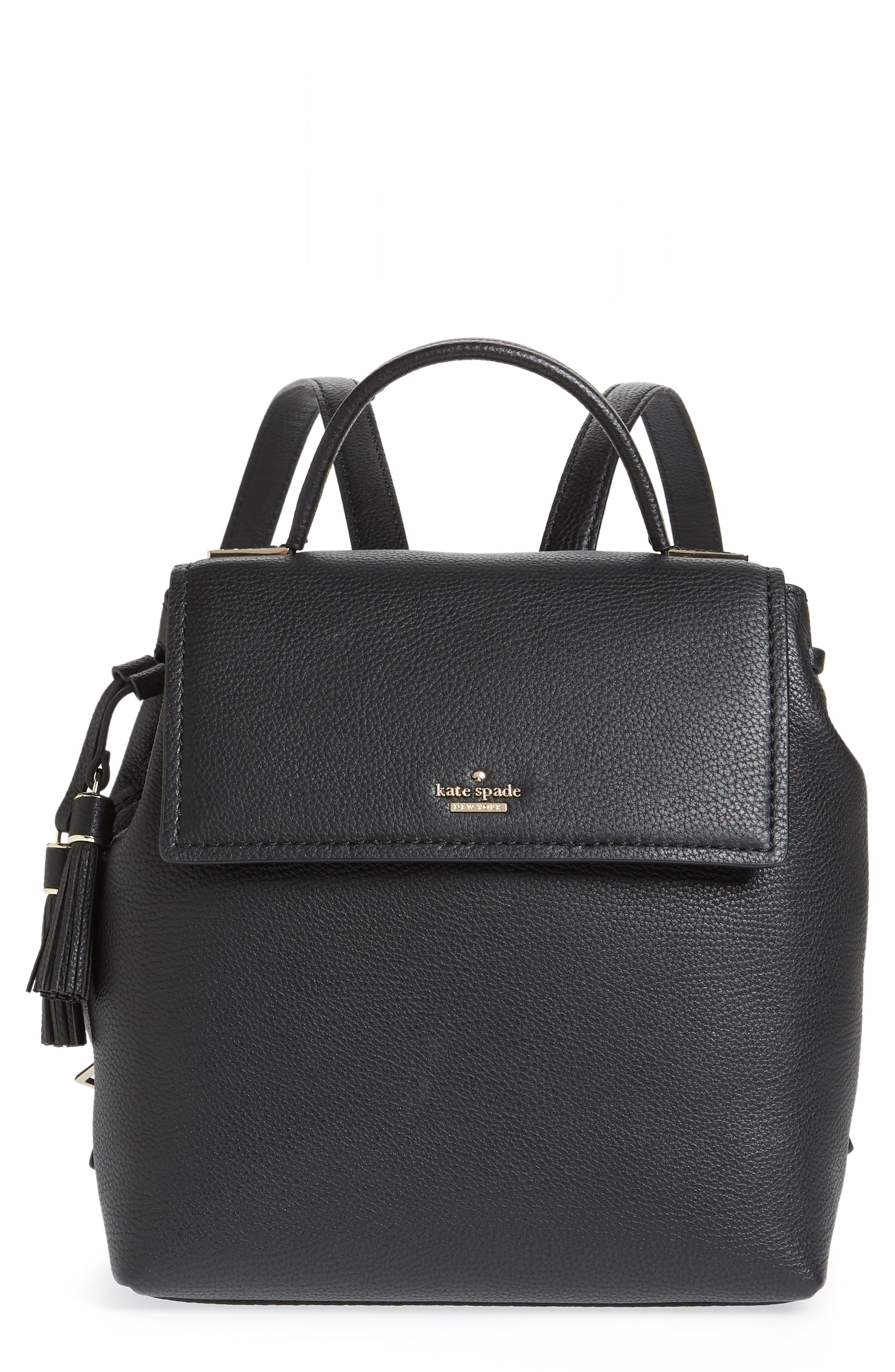 kingston drive - simona leather backpack,                         Main,                         color, 001