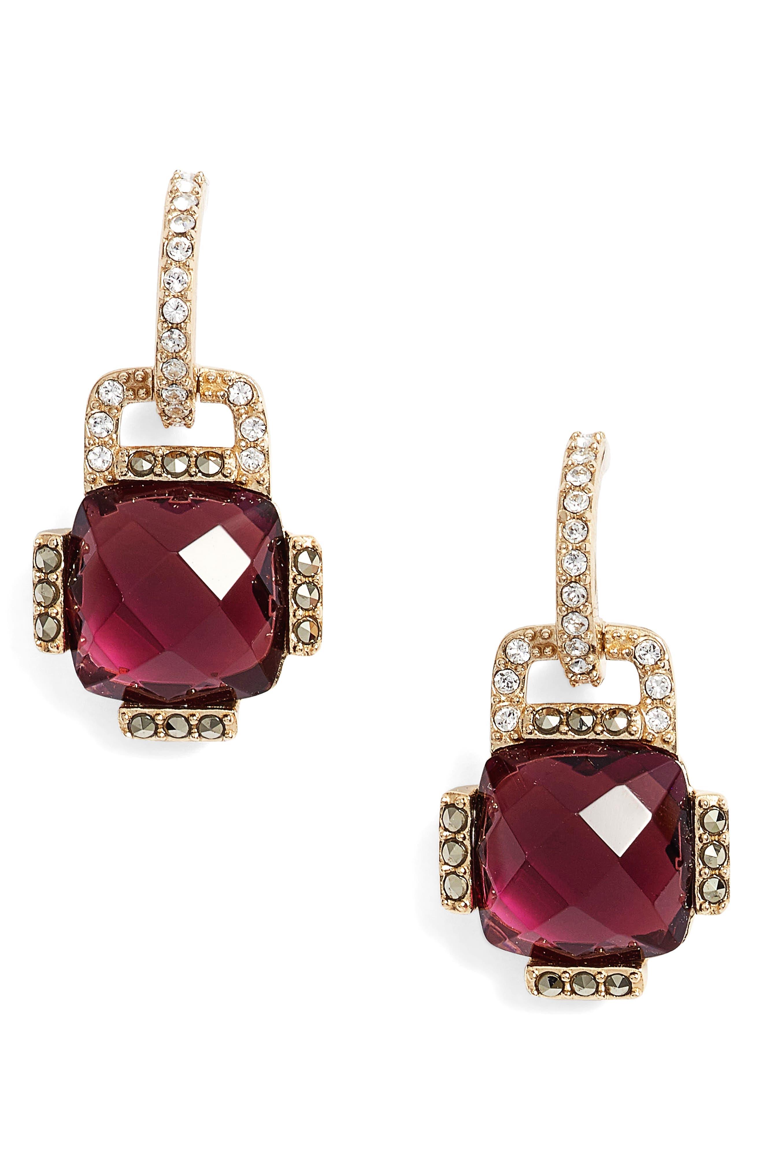 Crystal Drop Earrings,                         Main,                         color,