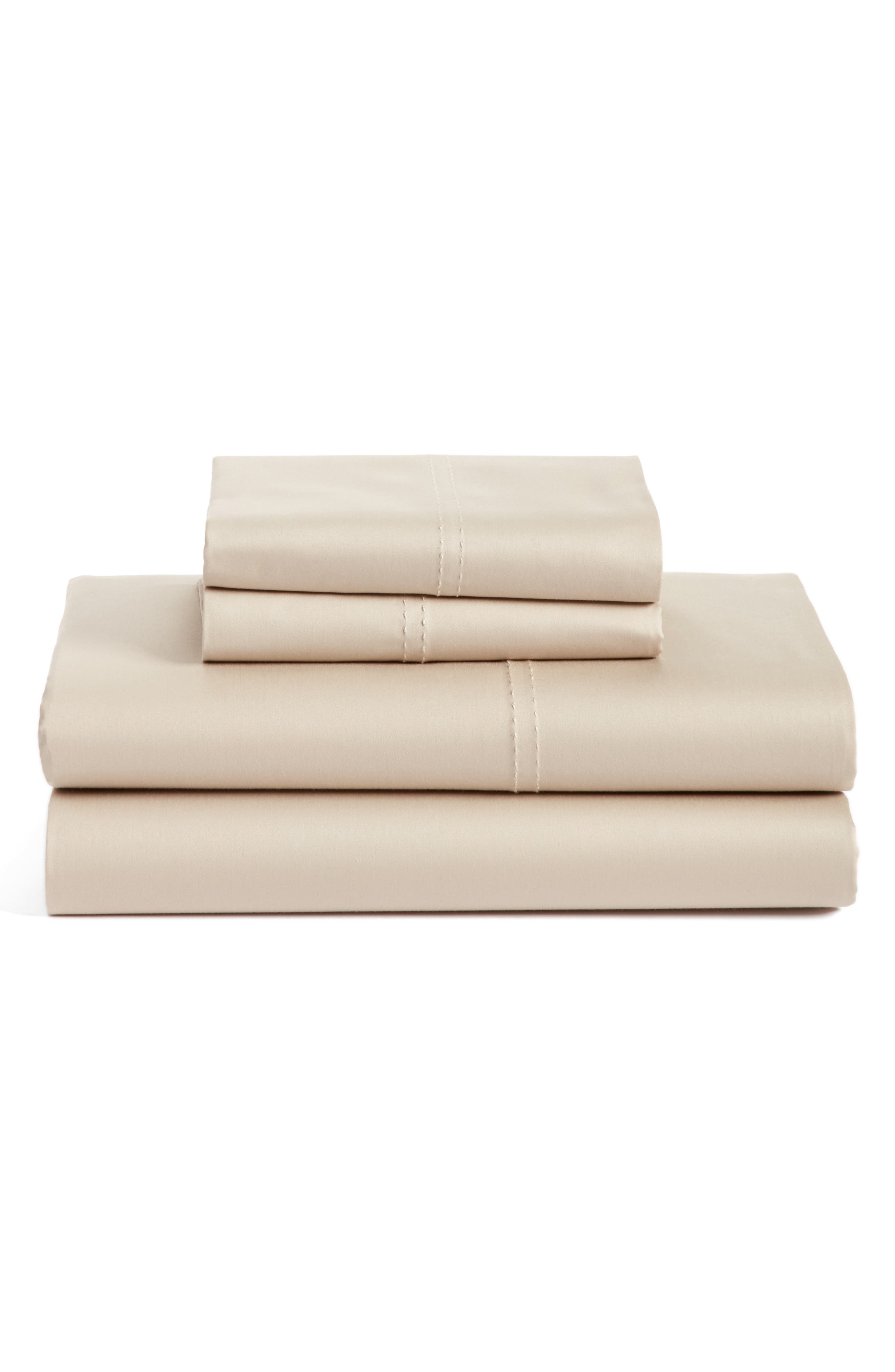 400 Thread Count Organic Cotton Sateen Sheet Set,                             Main thumbnail 8, color,