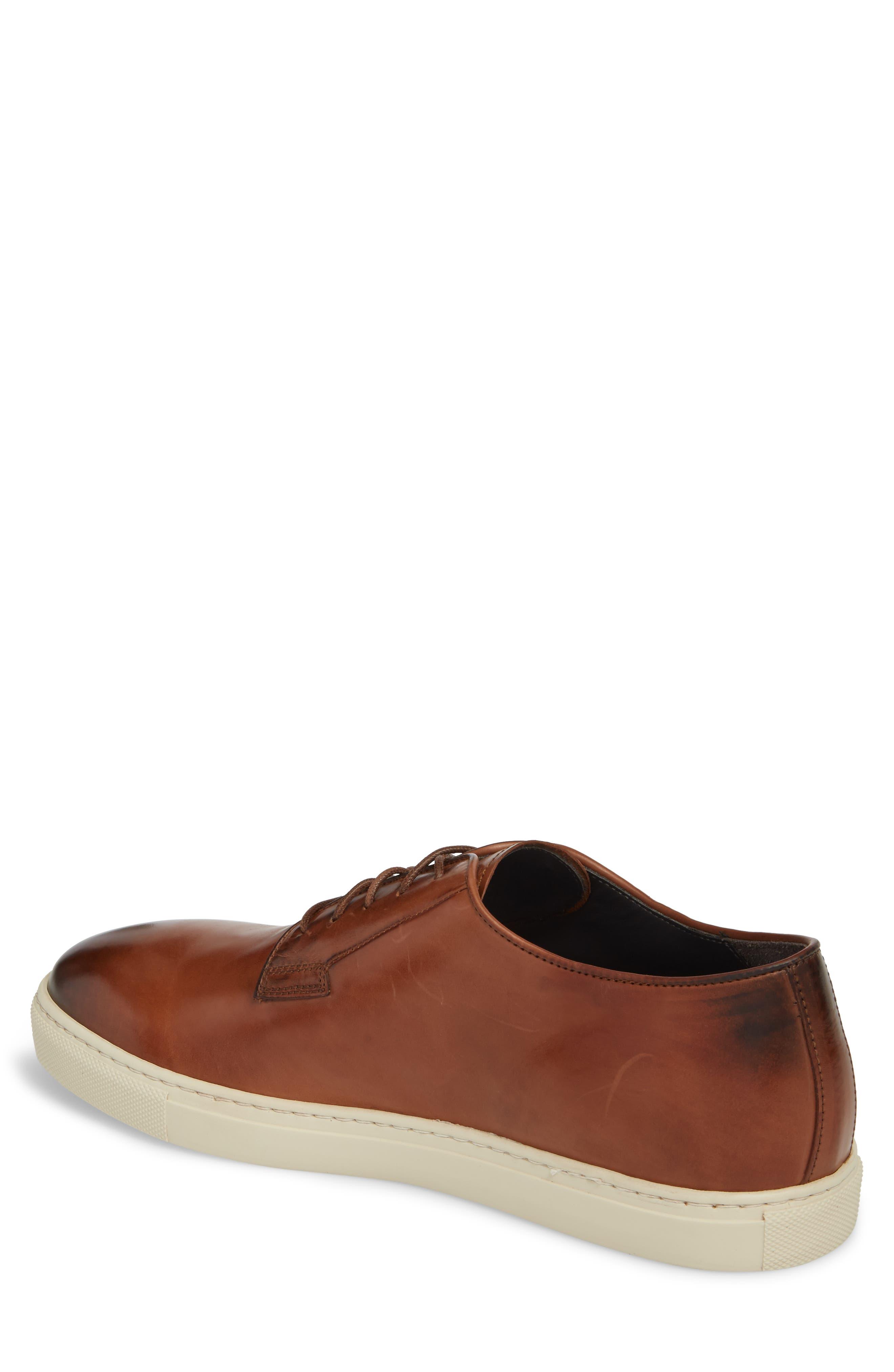 Plain Toe Derby Sneaker,                             Alternate thumbnail 2, color,                             DIVER TAN LEATHER