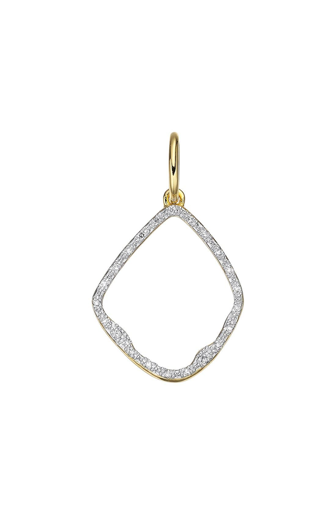 Monica Vinader Accessories RIVA DIAMOND HOOP PENDANT CHARM
