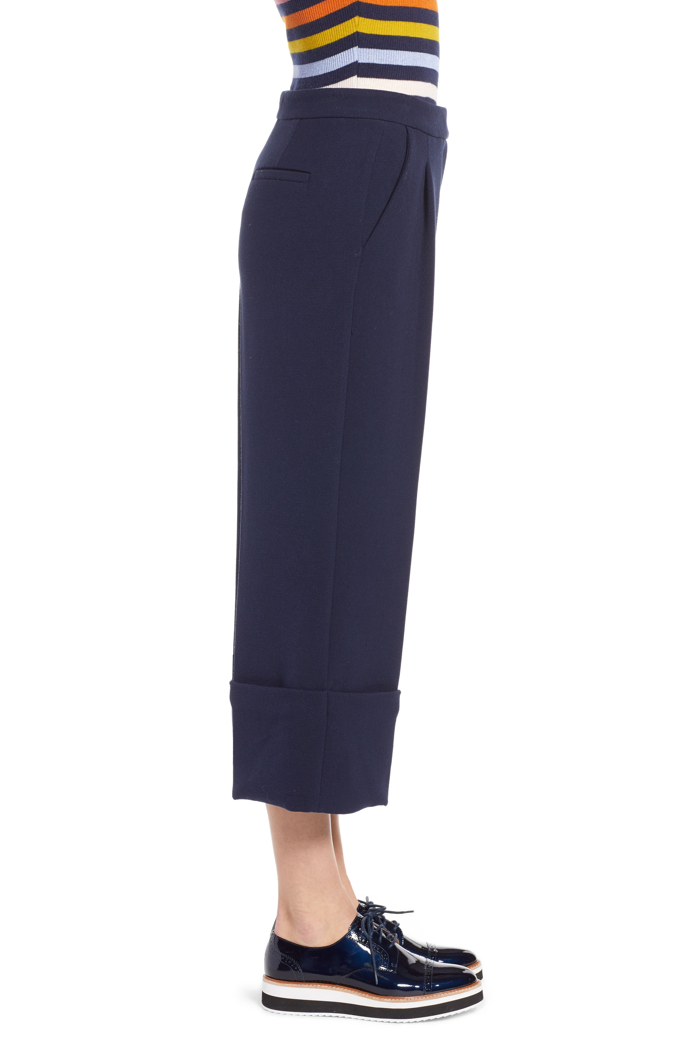 HALOGEN<SUP>®</SUP>,                             x Atlantic-Pacific High Waist Wide Cuff Ankle Pants,                             Alternate thumbnail 5, color,                             410