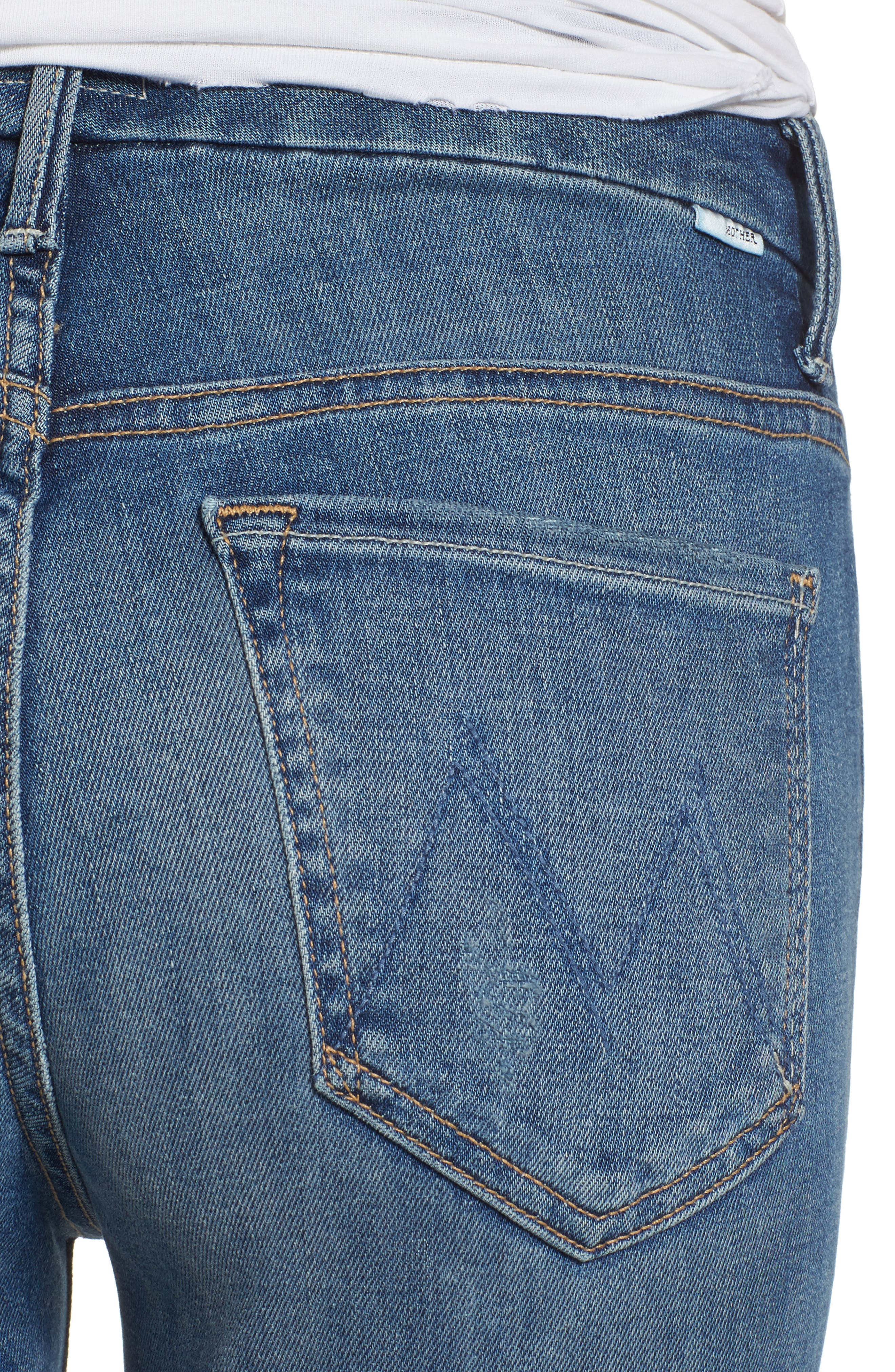The Looker Frayed Ankle Jeans,                             Alternate thumbnail 4, color,                             420