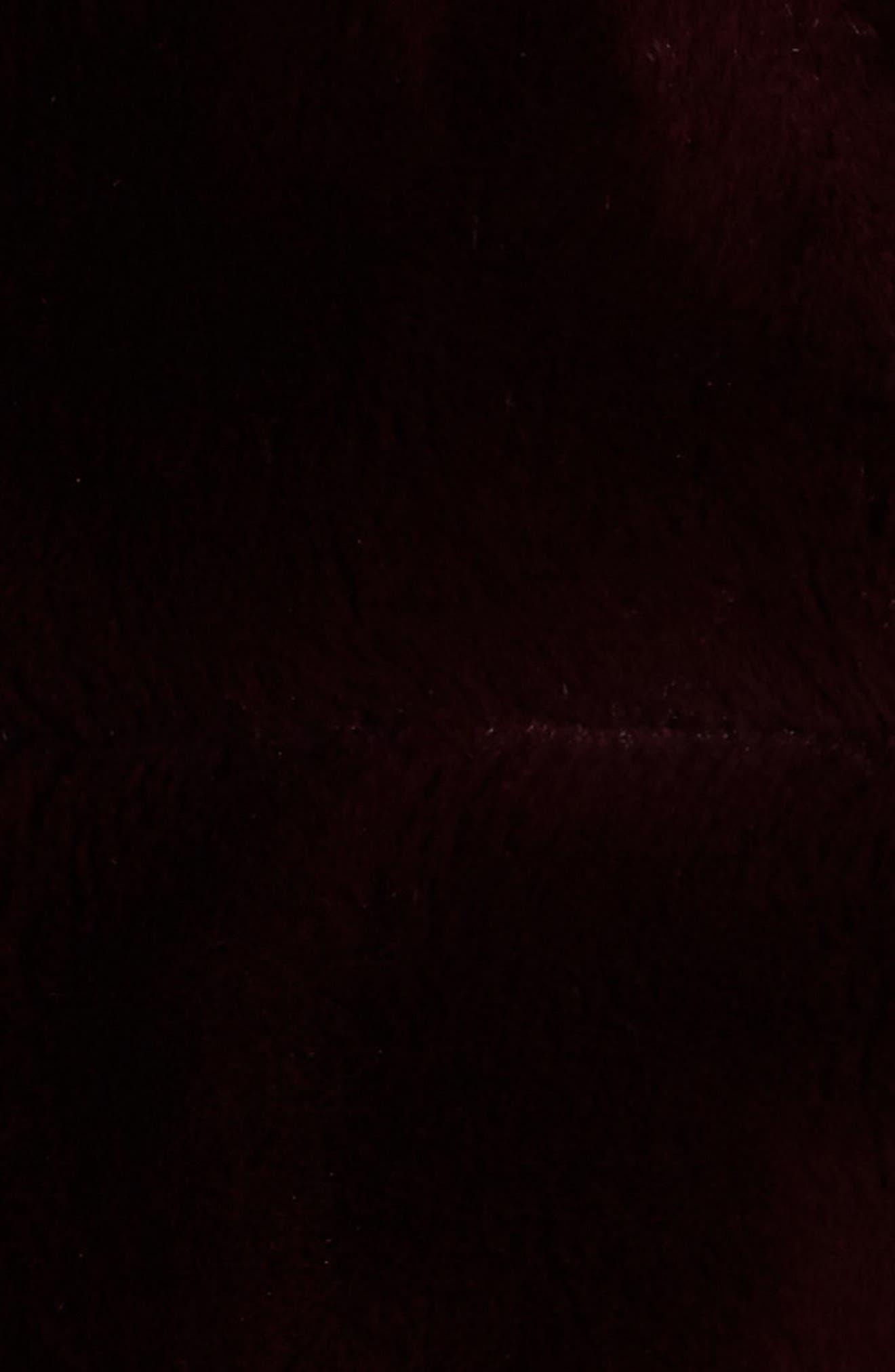 ELIZA J,                             Faux Fur Crop Jacket,                             Alternate thumbnail 6, color,                             WINE