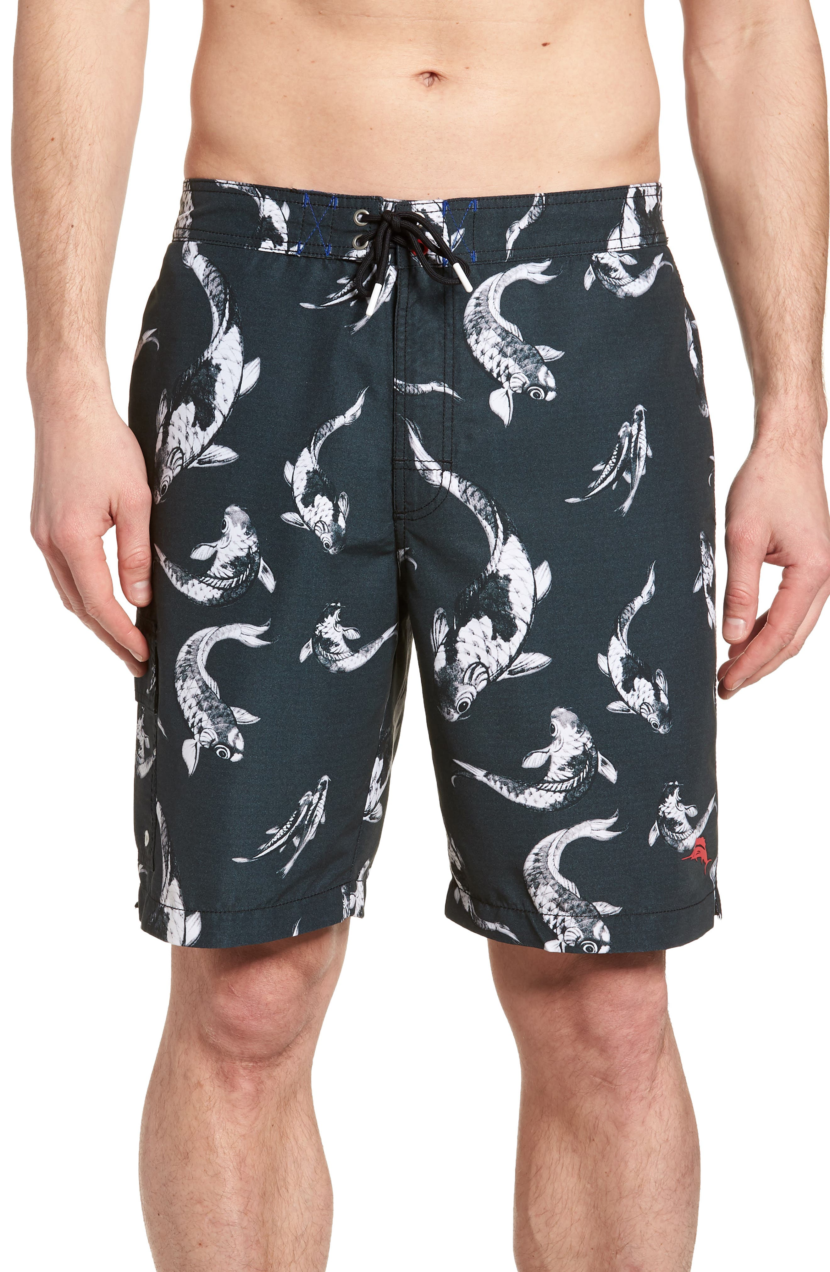 Baja Kois Are Back in Town Board Shorts,                         Main,                         color, BLACK