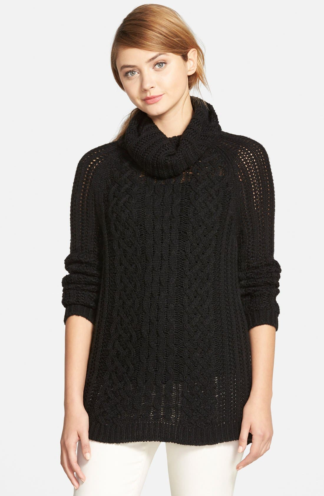 'Sleepy Hollow' Turtleneck Sweater,                             Main thumbnail 1, color,                             001